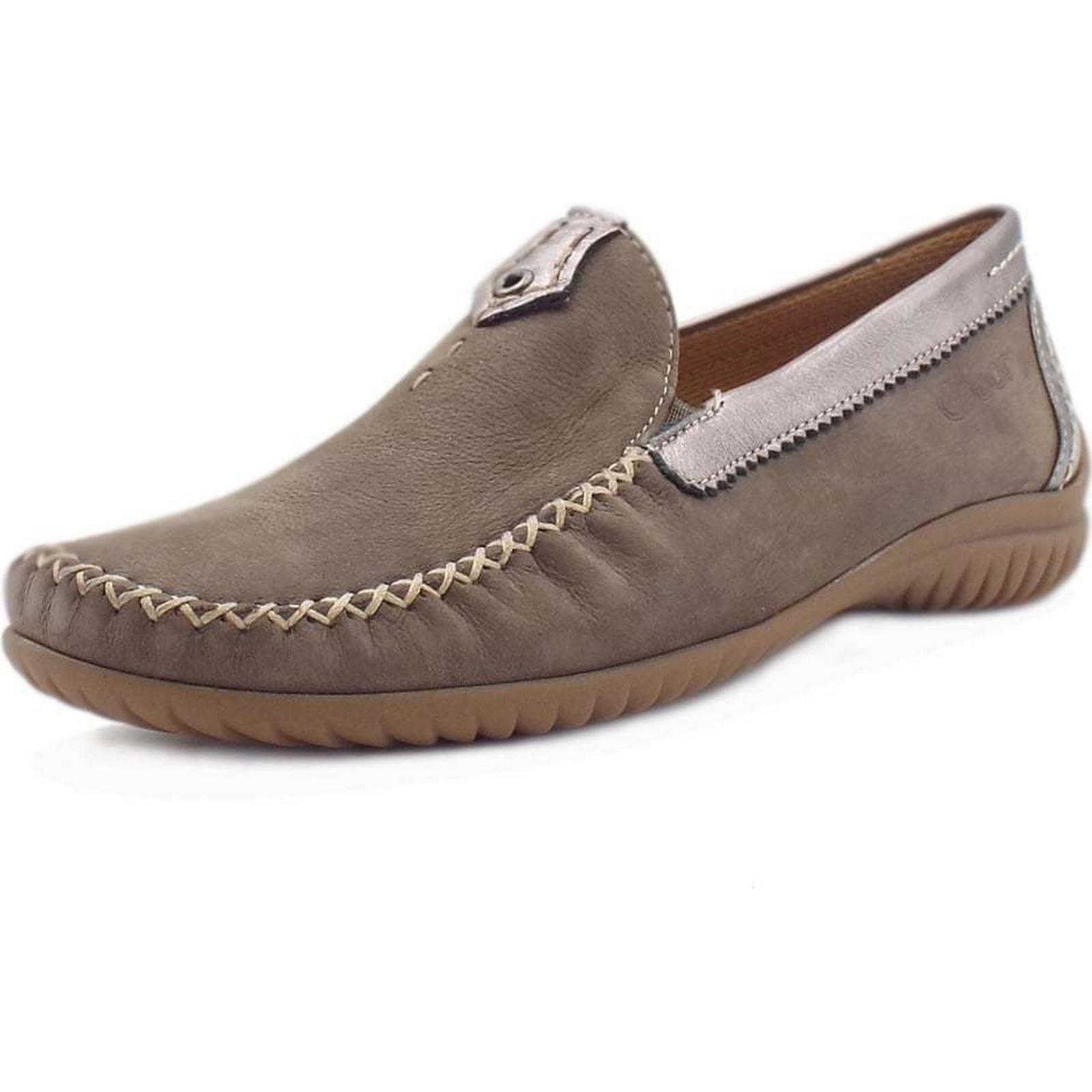 Gabor CALIFORNIA GABOR LADIES MOCCASN 6 SHOE Colour: FUMO, Size: 6 MOCCASN c1a395