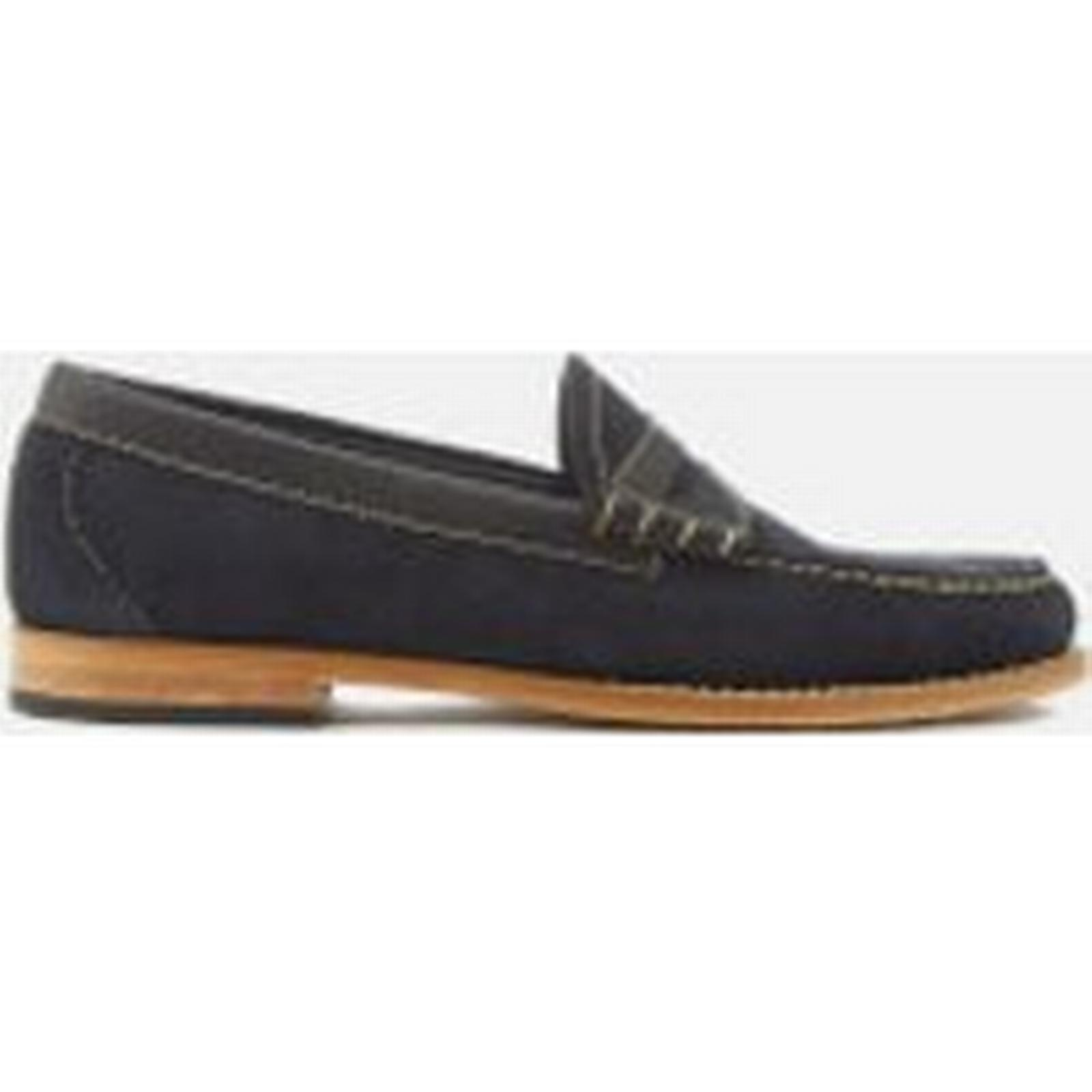 Bass Weejuns Men's Larson Navy Reverso Suede Loafers - Navy Larson - UK 10 - Blue 114fa0