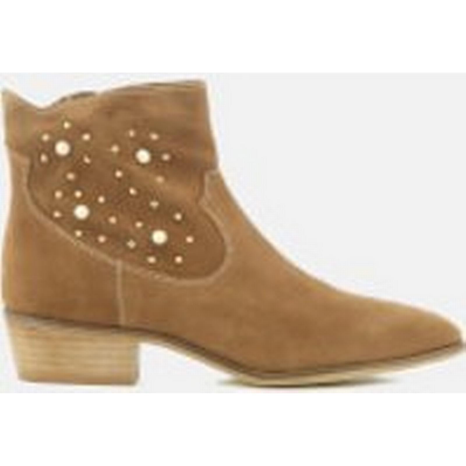 Rebecca Minkoff Women's Boots Stella Pearl Suede Western Boots Women's - Cognac ea56bd