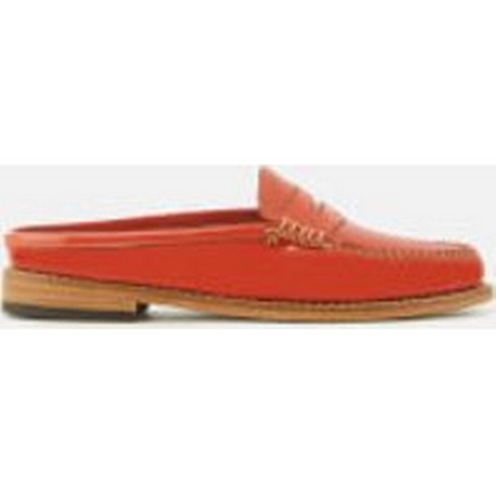 Bass Weejuns Women's Penny Slide Wheel Orange Patent Leather Loafers - Orange Wheel - UK 4 - Orange 3cb81b
