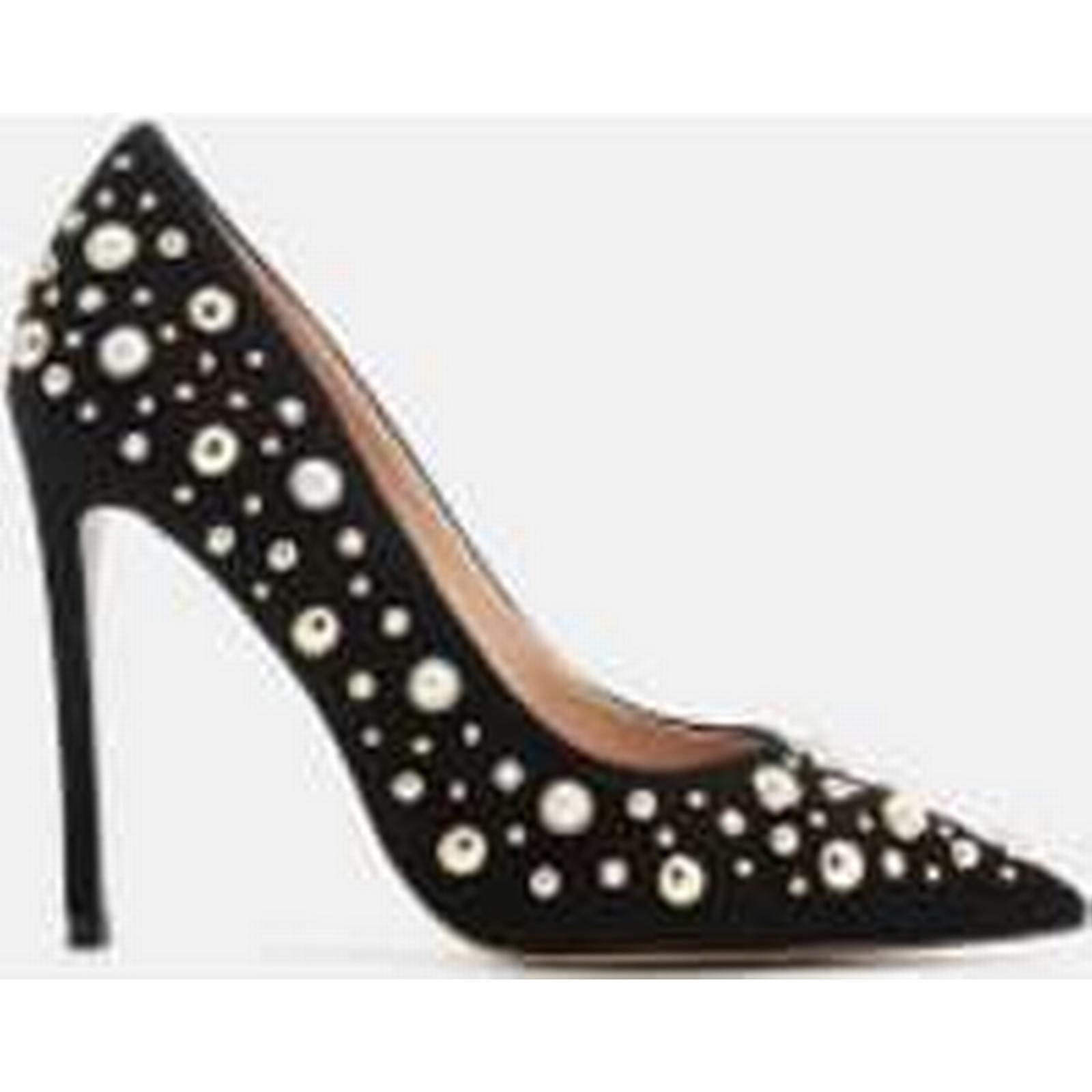 Carvela Women's Court Alabaster Suede Embellished Court Women's Shoes - Black a07d04