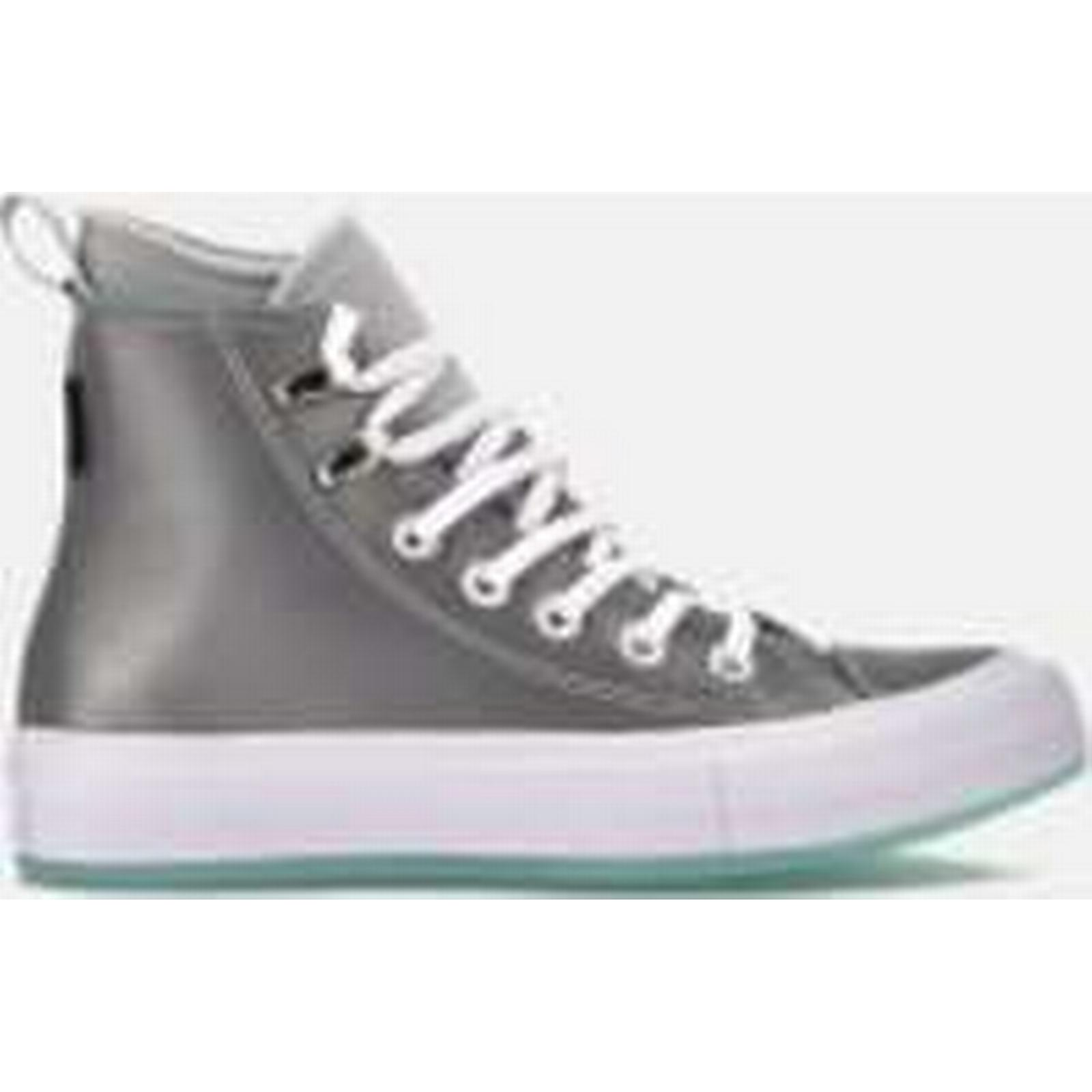 Converse Women's Chuck Taylor - All Star Waterproof Boots - Taylor Pure Platinum/Light Aqua/White - UK 3 - Grey 75db91