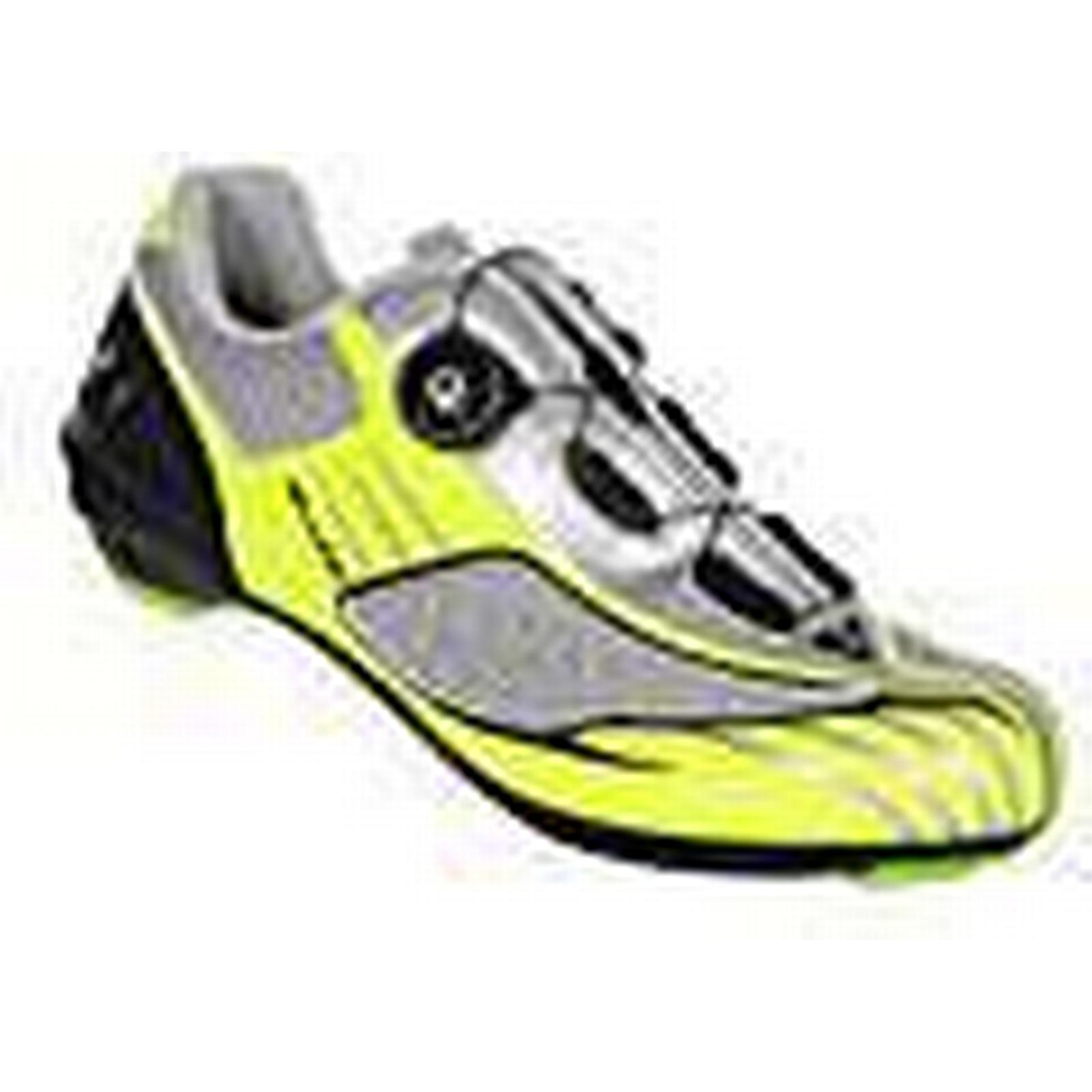 Massi cycling Aria - Unisex road cycling Massi shoes, grey/neon yellow colour, size 44 b78564
