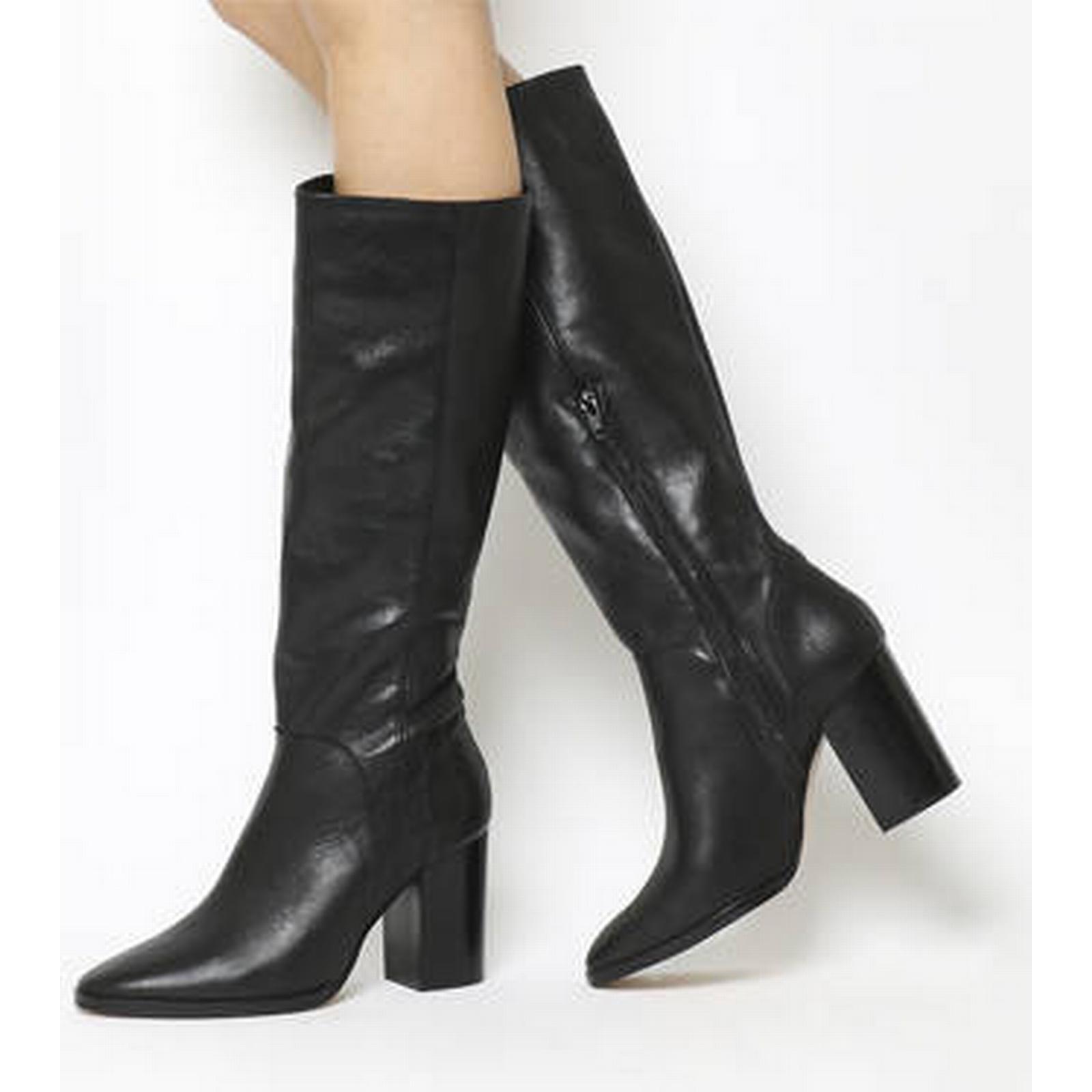 Office Kan BLACK Kan Smart Knee Boots BLACK Kan LEATHER 148cc5