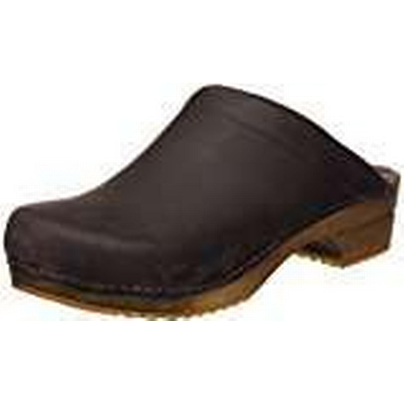 Sanita Wood Chrissy Open, Women's Mules and (41 Clogs Clogs, Antique Brown, (41 and EU) 875993