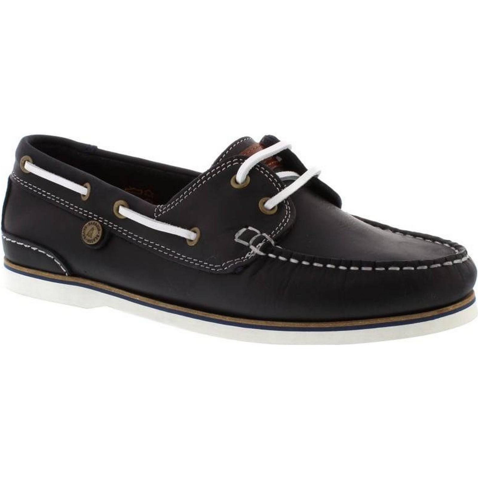 Barbour Blue Bowline Boat Shoe - Blue Barbour Leather Size: 6 UK ffcf04