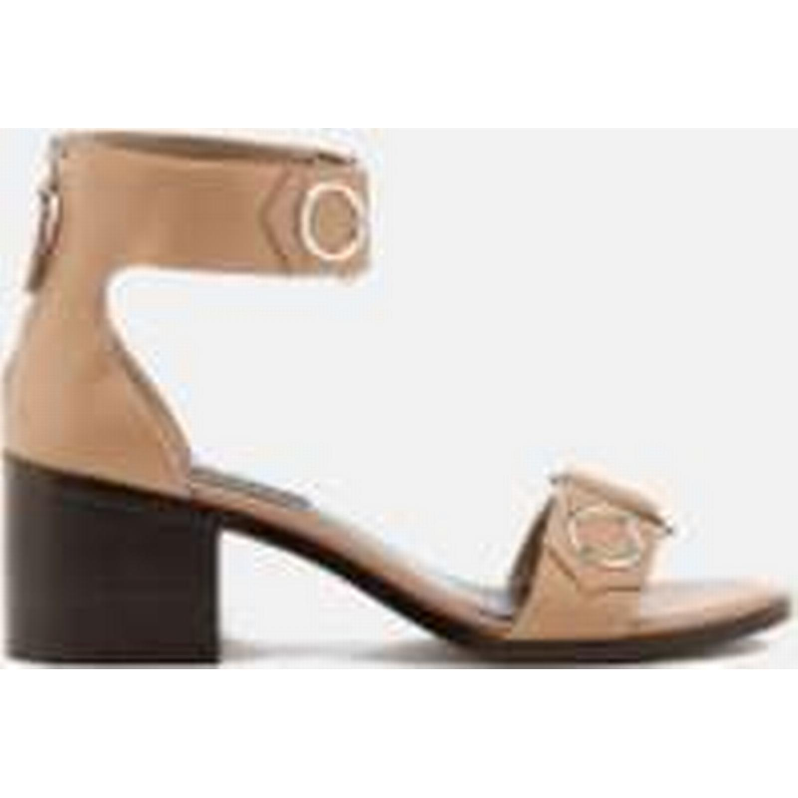 Senso Heeled Women's Kendrick Leather Blocked Heeled Senso Sandals - Oatmeal 9dc6cd