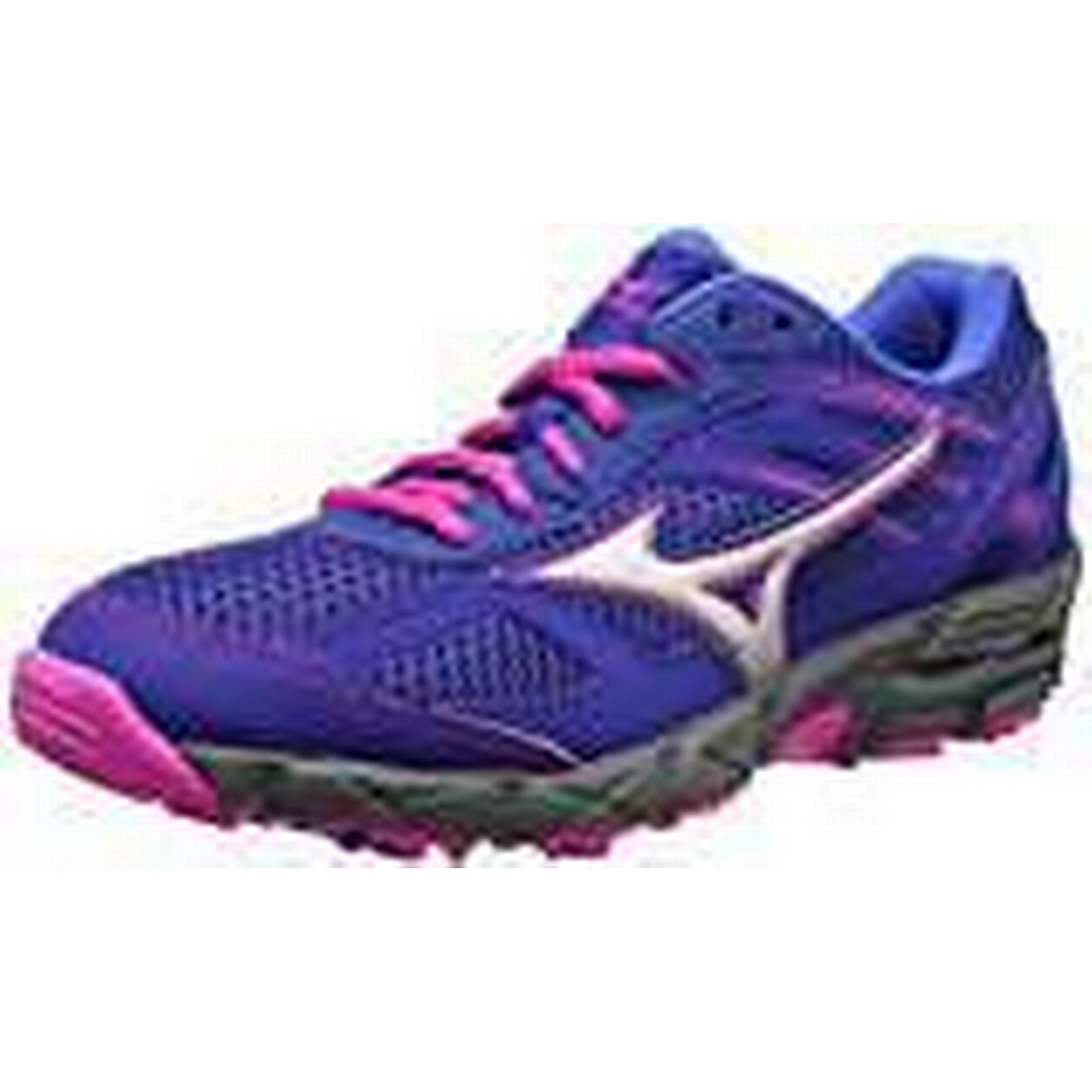 Mizuno Women's Wave Kien Shoes, 3 (W) Trail Running Shoes, Kien (Mazarine Blue/Silver/Electric), 7 UK 40 1/2 EU a30537