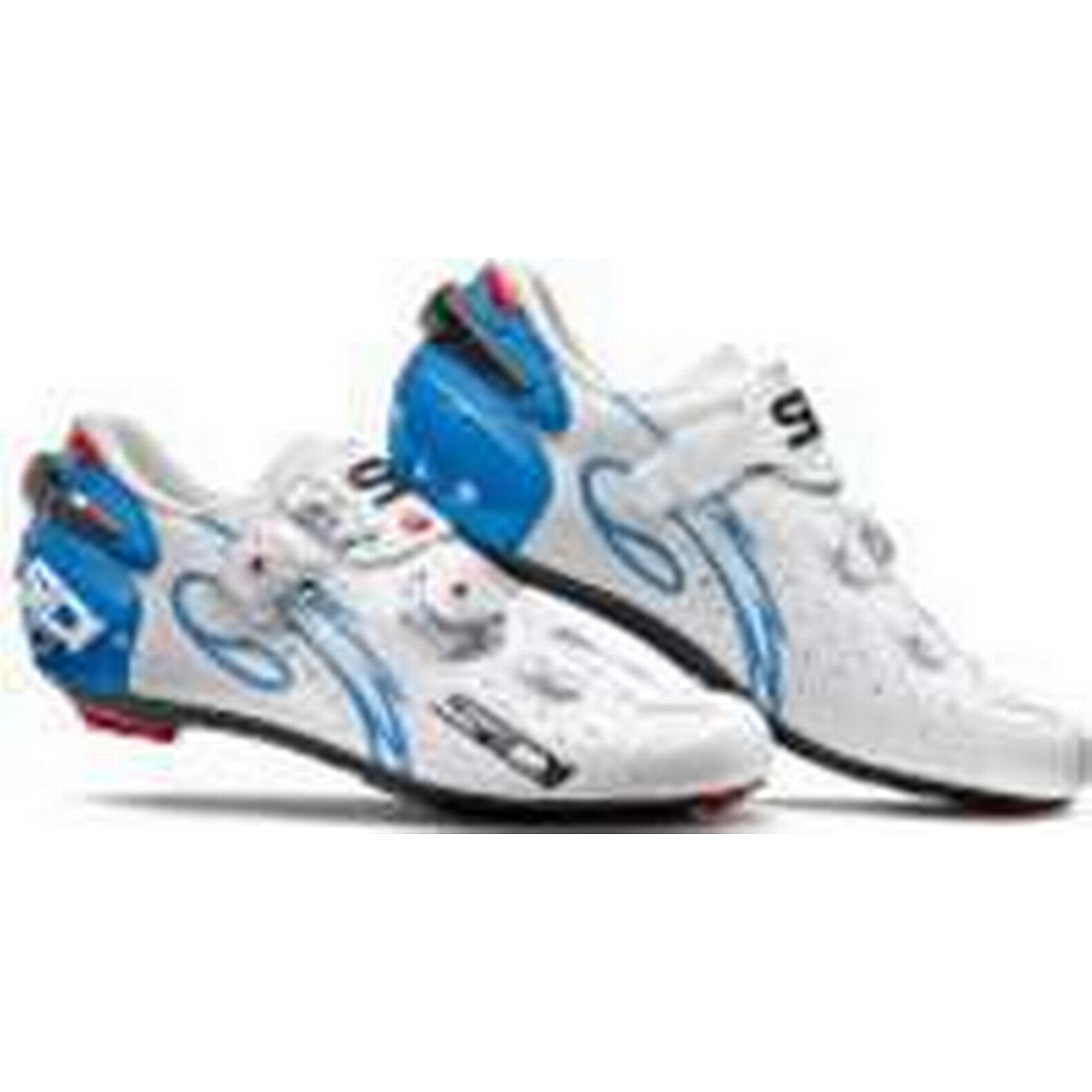 Sidi Wire Carbon Air Vernice Women's Cycling Shoes - 40 White/Light Blue - EU 40 - e14fe3