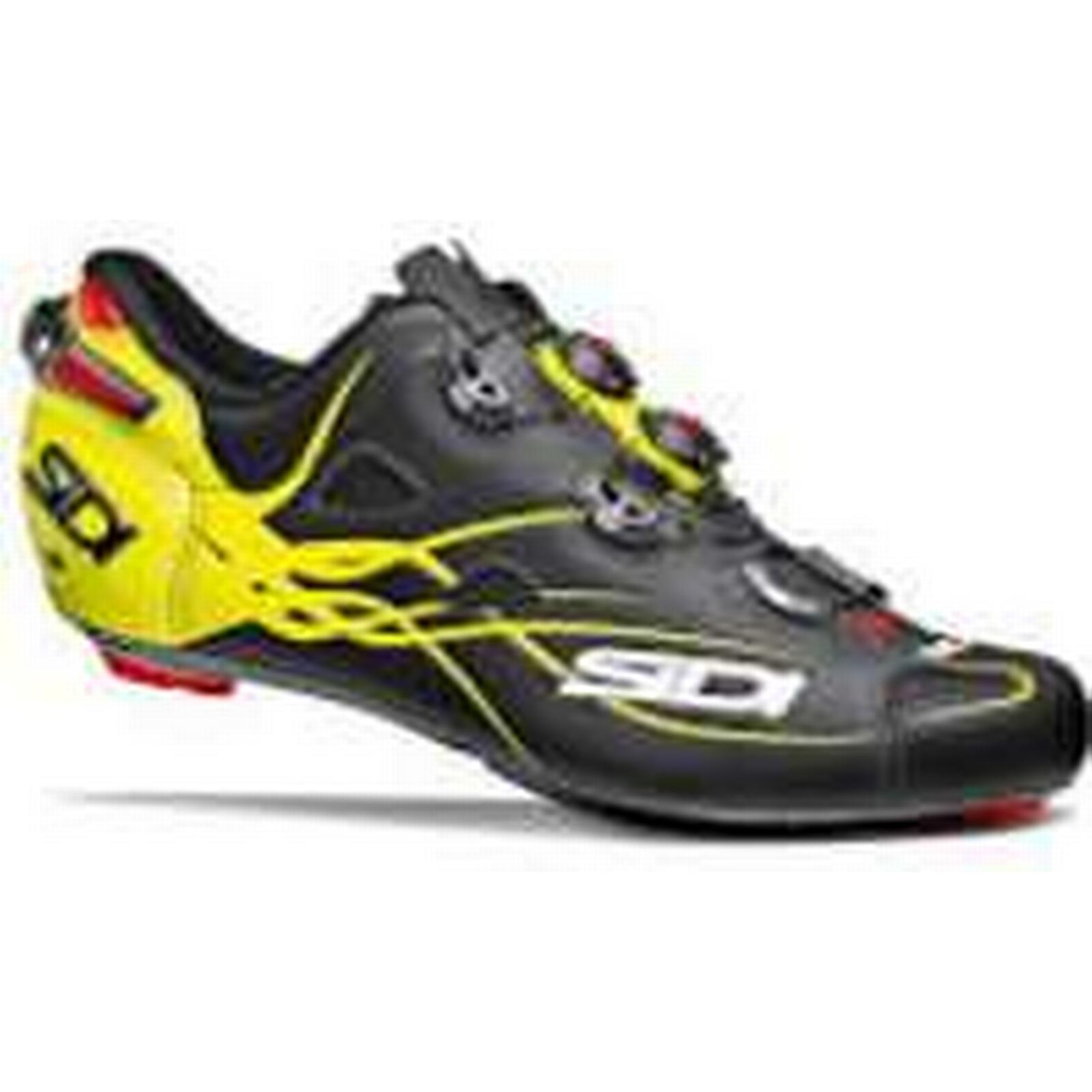 Sidi Shot Matt Road Shoes - Matt 45 Black/Yellow Fluo - EU 45 Matt - Matt Black/Yellow Fluo 083faa