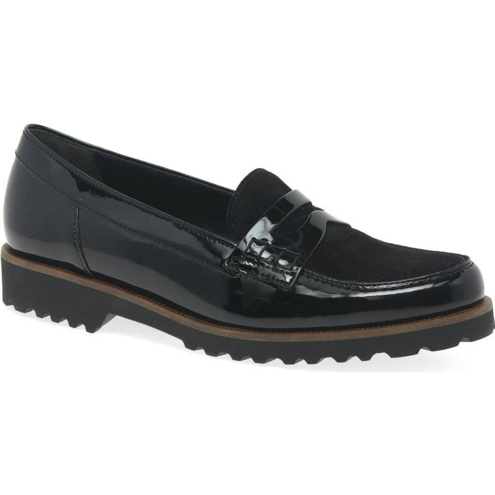 Gabor Skipper Womens Casual II, Shoes Colour: Black Patent/Suede II, Casual Size: b09e38