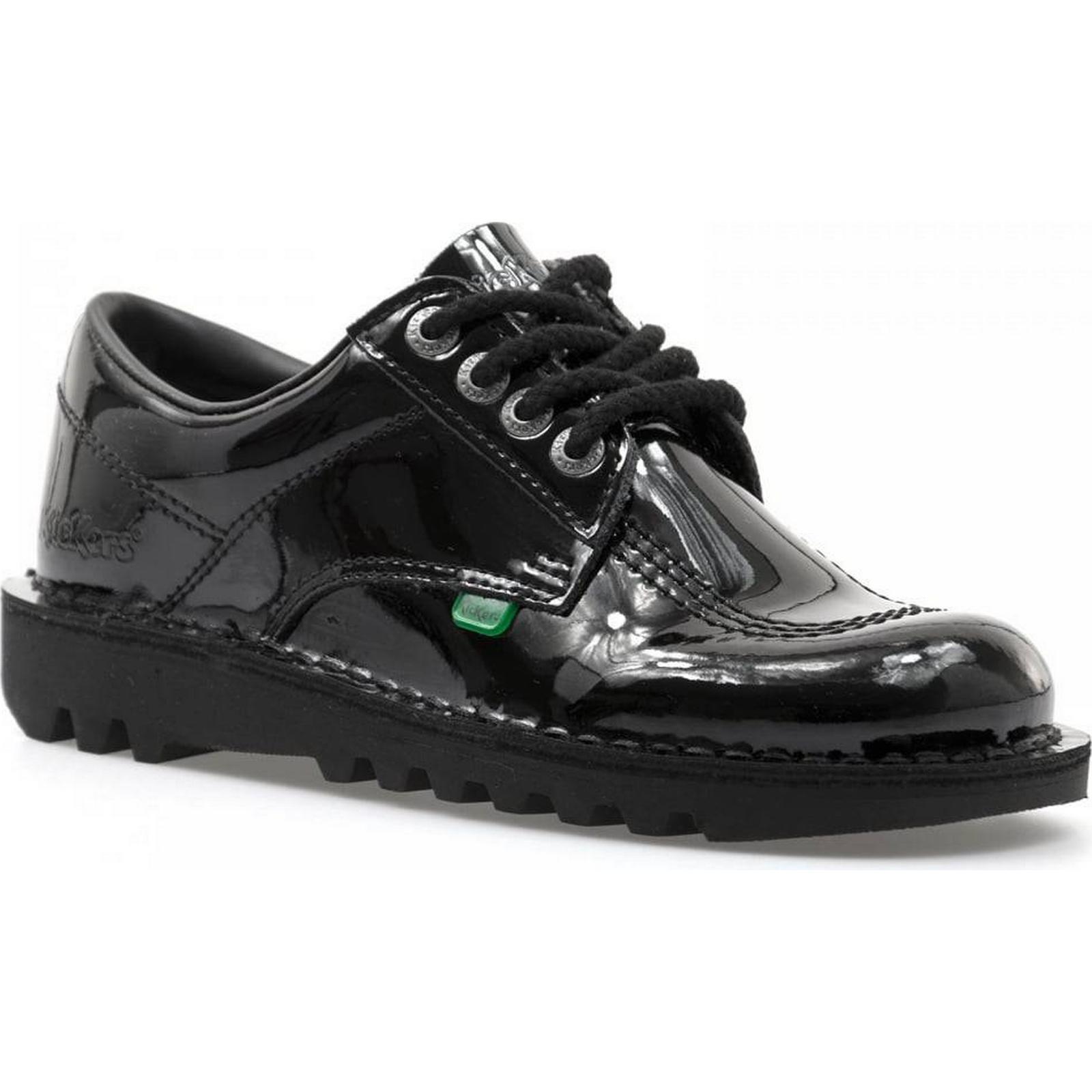 Kickers Womens Kick Low Patent Shoes BLACK (Black) Size: 5, Colour: BLACK Shoes 87988f