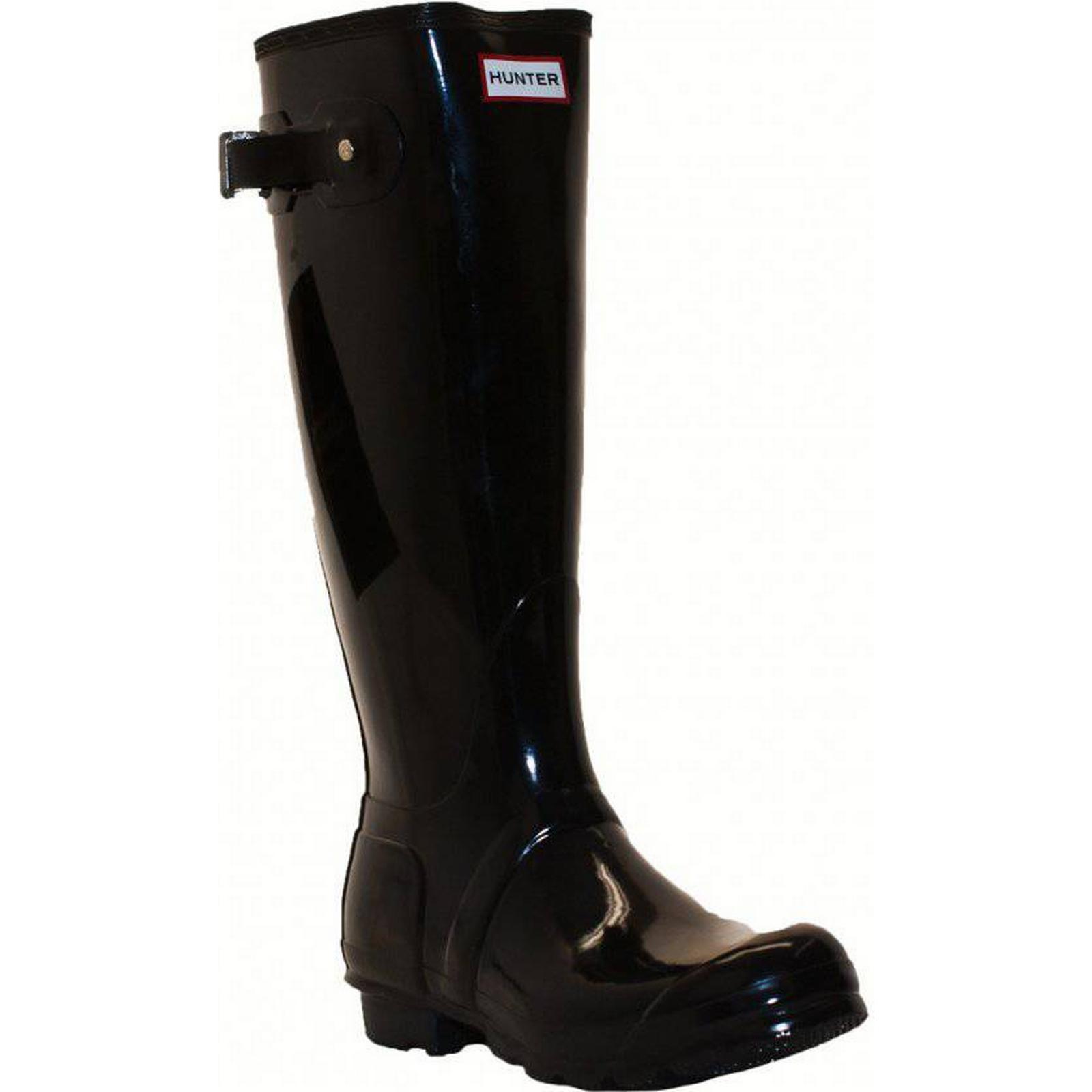 Hunter Womens (Black) Original Tall Gloss Wellington (Black) Womens Size: 5, Colour: 656bf8
