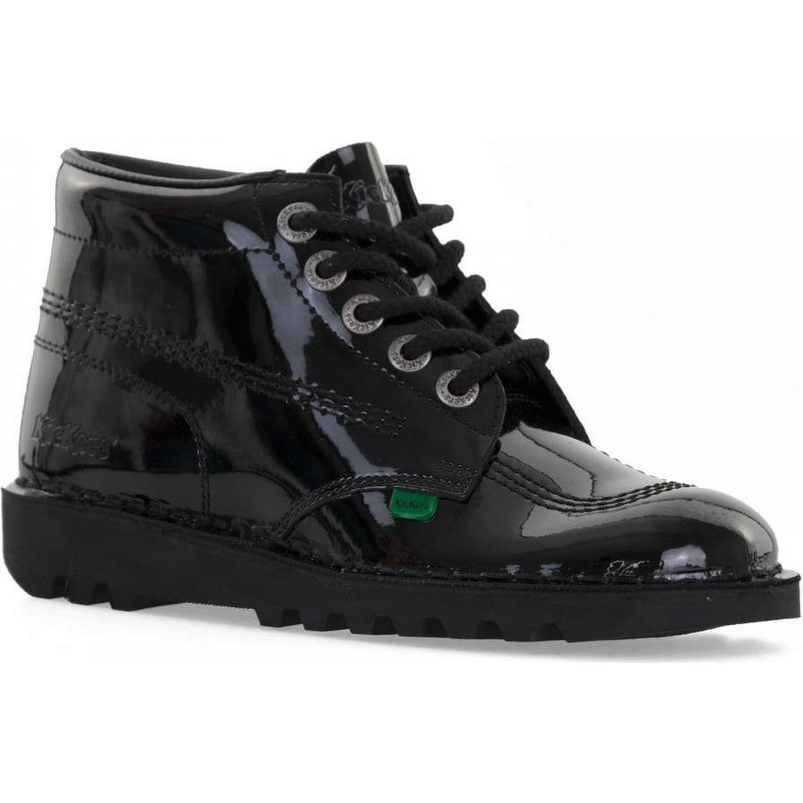Kickers Womens (Black) Kick Hi Patent Boots (Black) Womens Size: 8, Colour: BLACK a47826