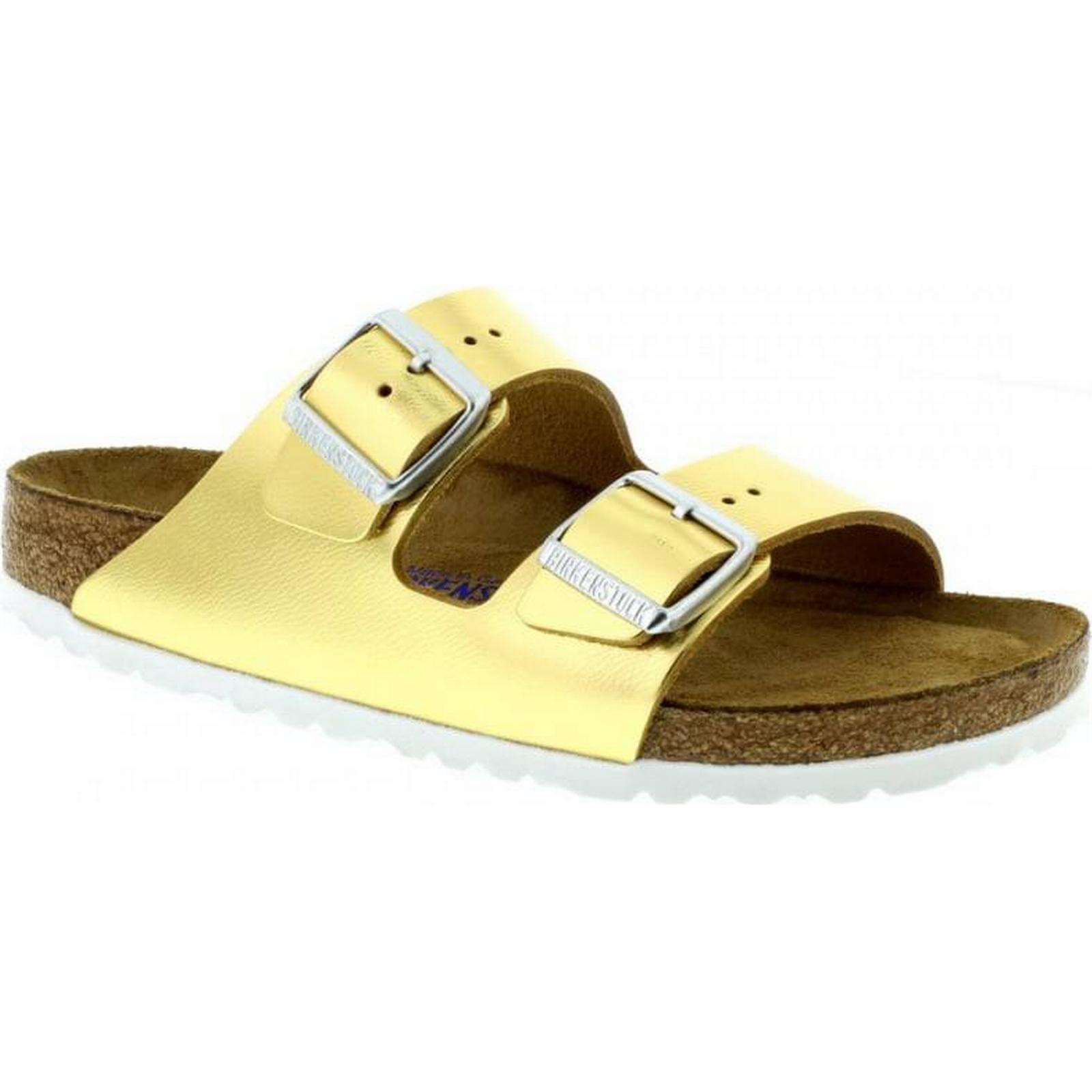 Birkenstock Arizona Narrow Fit - Liquid 35 Gold Leather 1000064 Size: 35 Liquid 39b709