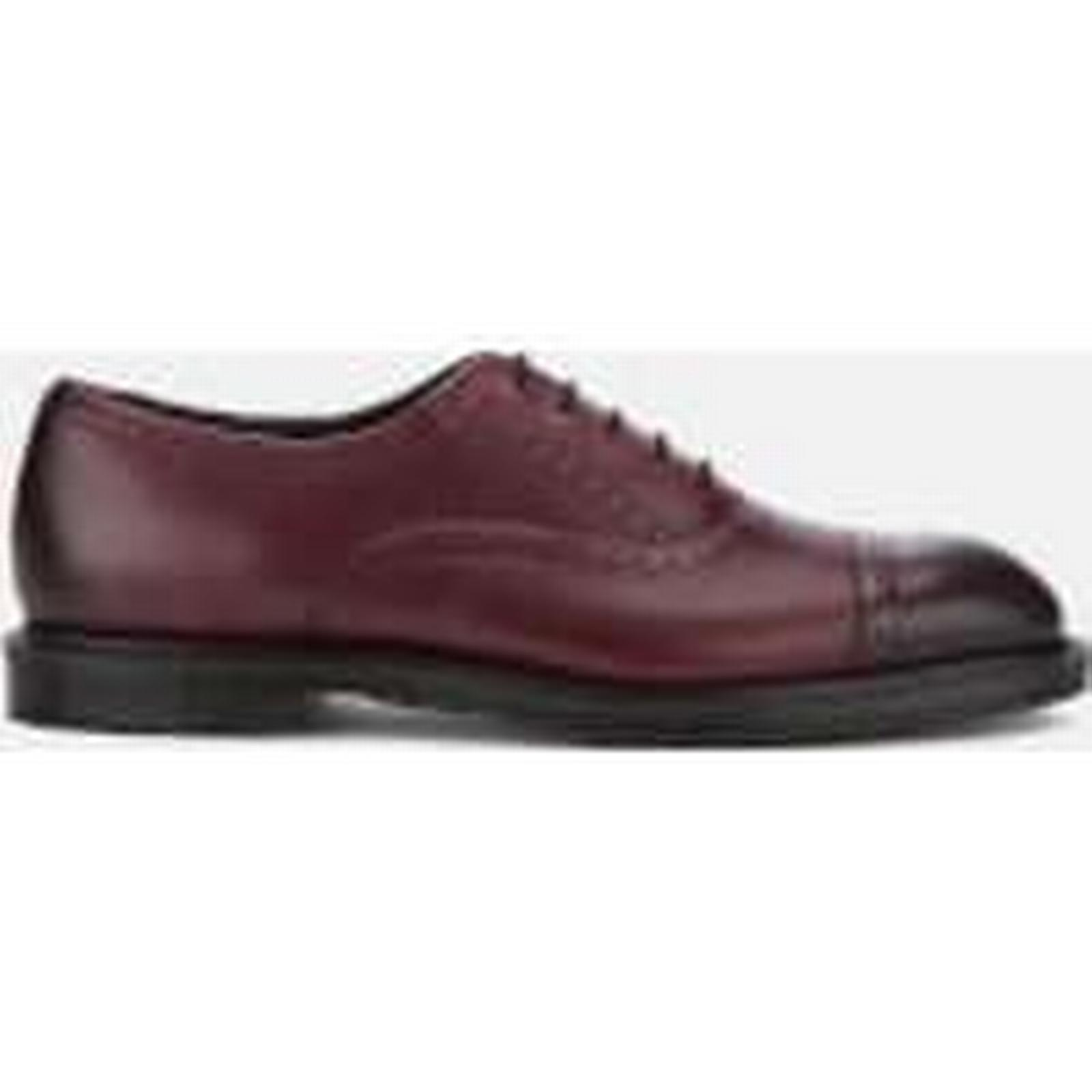 Dr. Martens Men's - Morris Antique Temperley Brogues - Men's Cherry Red - UK 12 - Burgundy 634ec2