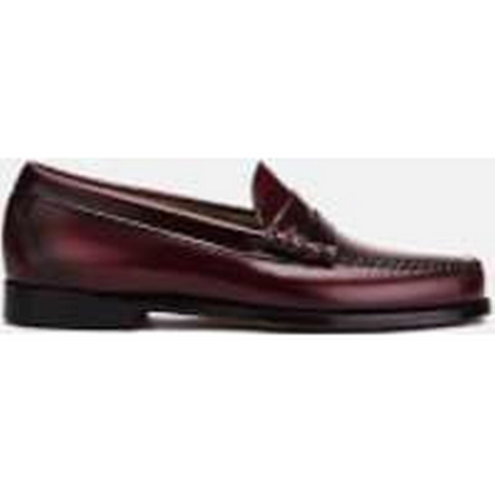 bass weejuns hommes & # ; s larson gpm - cuir mocassins - vin - gpm royaume - uni  - bourgogne 825f19