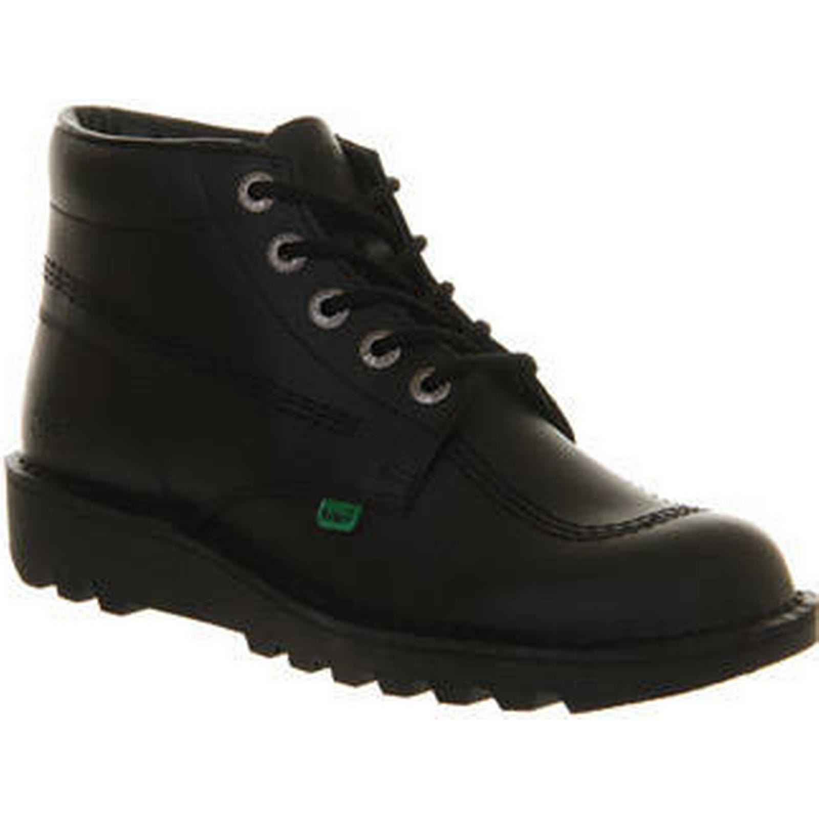 Kickers Kick Hi (m) BLACK LEATHER LEATHER BLACK 311f56