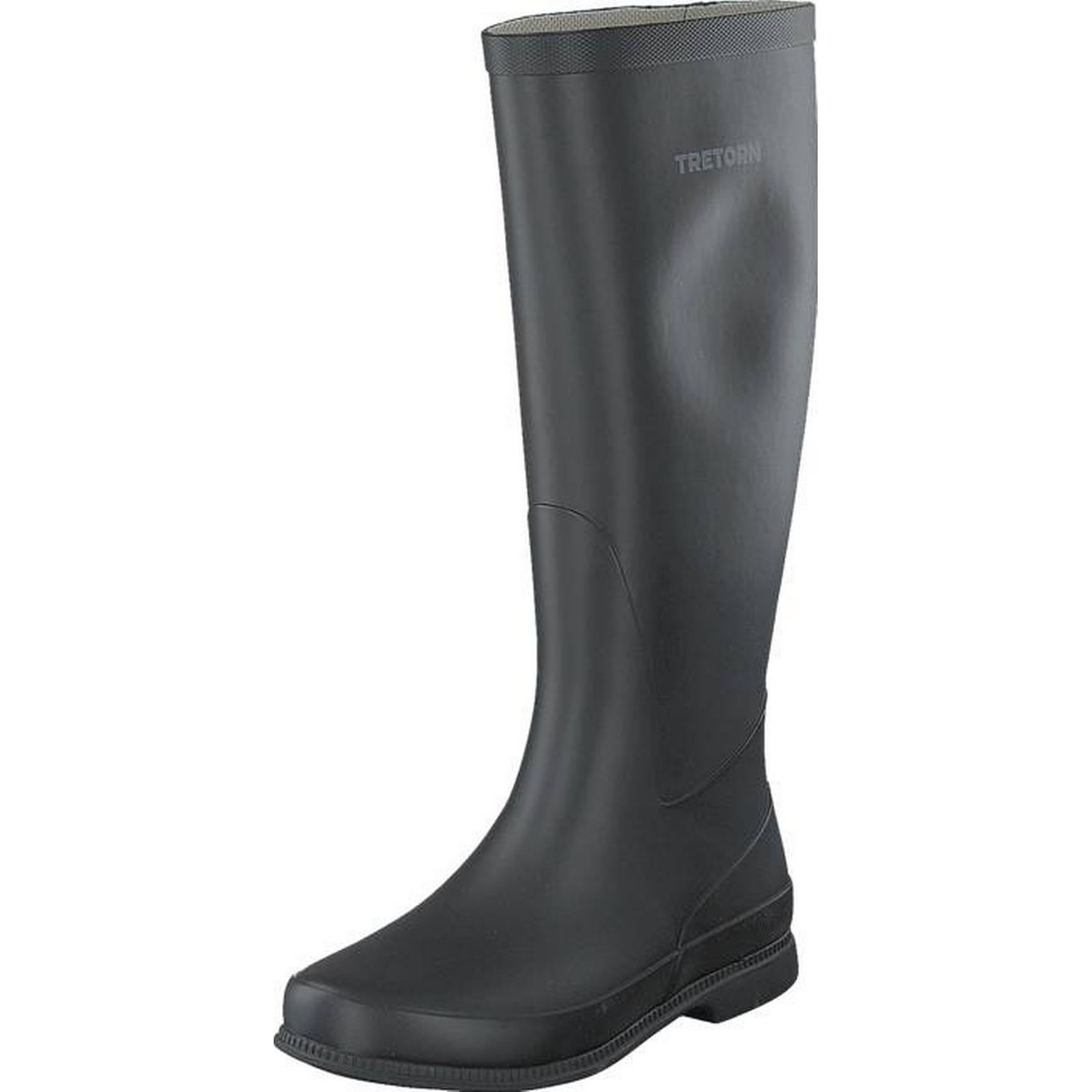 Tretorn Lisa Black, Shoes, High boots & Booties, Tall Wellies, Wellies, Tall Grey, Female, 39 47ef7d