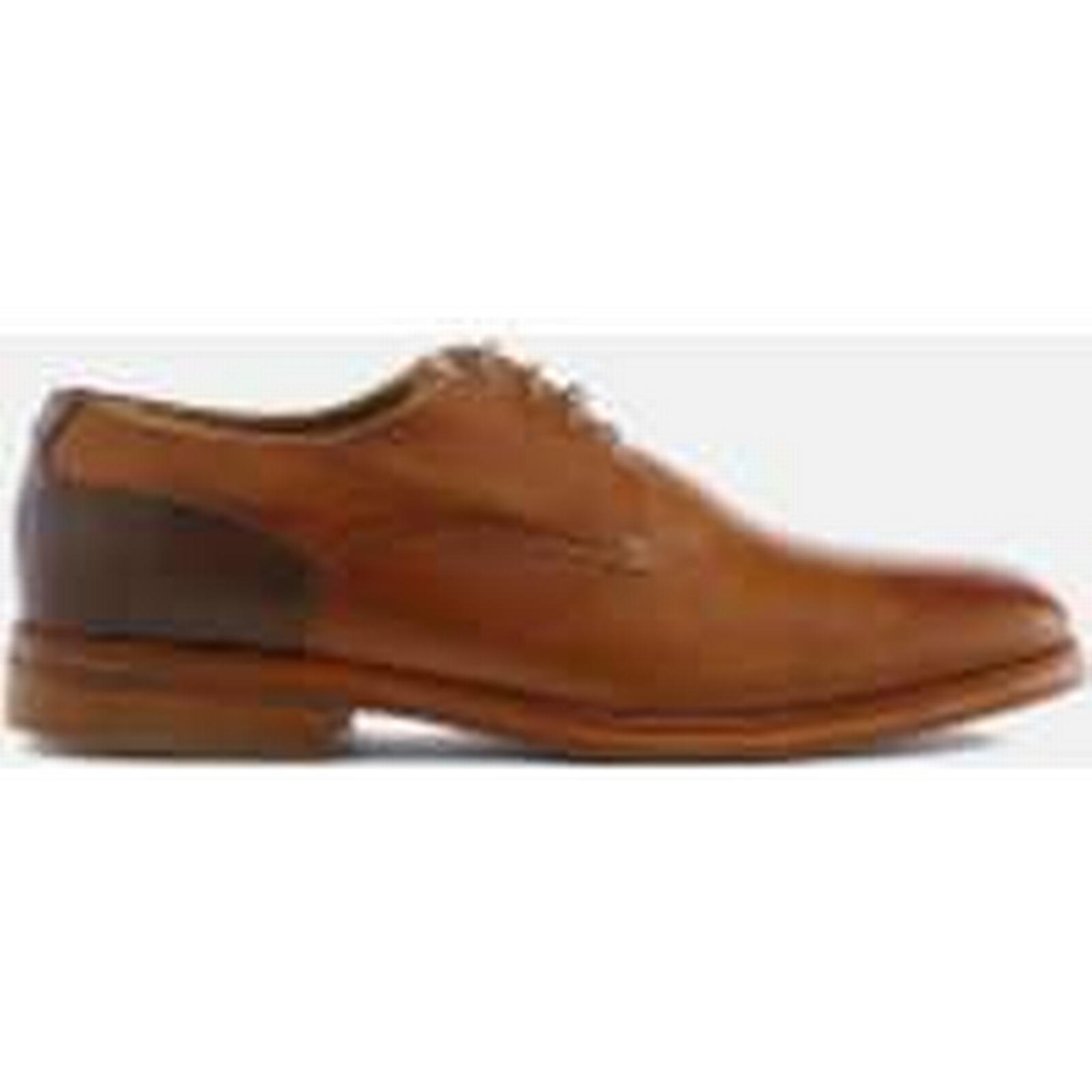 Hudson London Shoes Men's Enrico Leather Derby Shoes London - Tan - UK 8 - Tan c6a15b