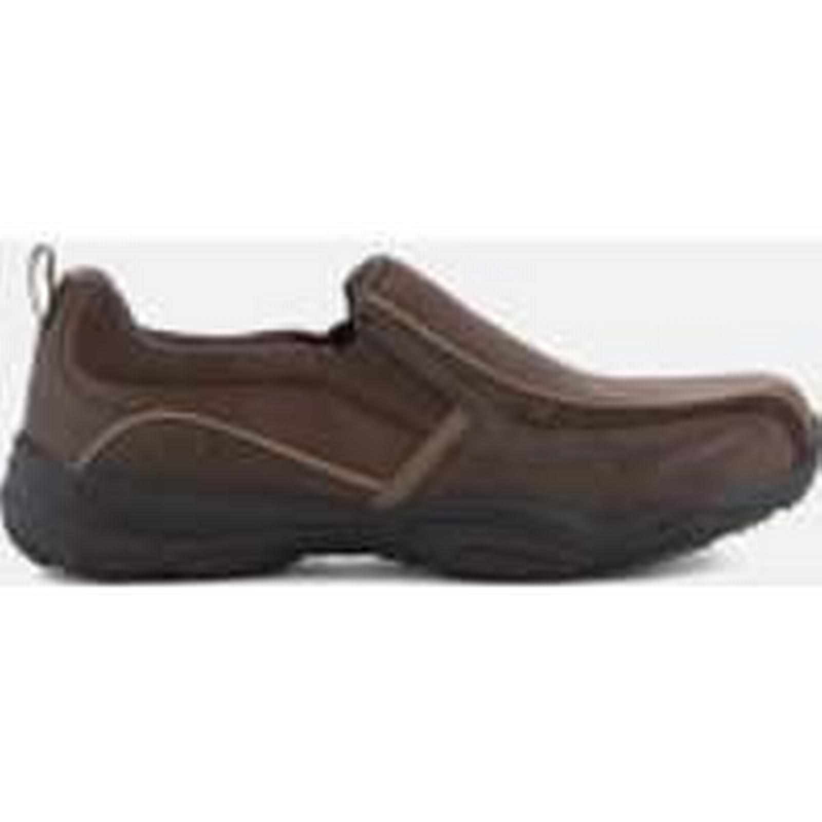 Skechers Men's Shoes Larson Berto Slip On Shoes Men's - Dark Brown - UK 8/EU 42 - Brown 4f0083
