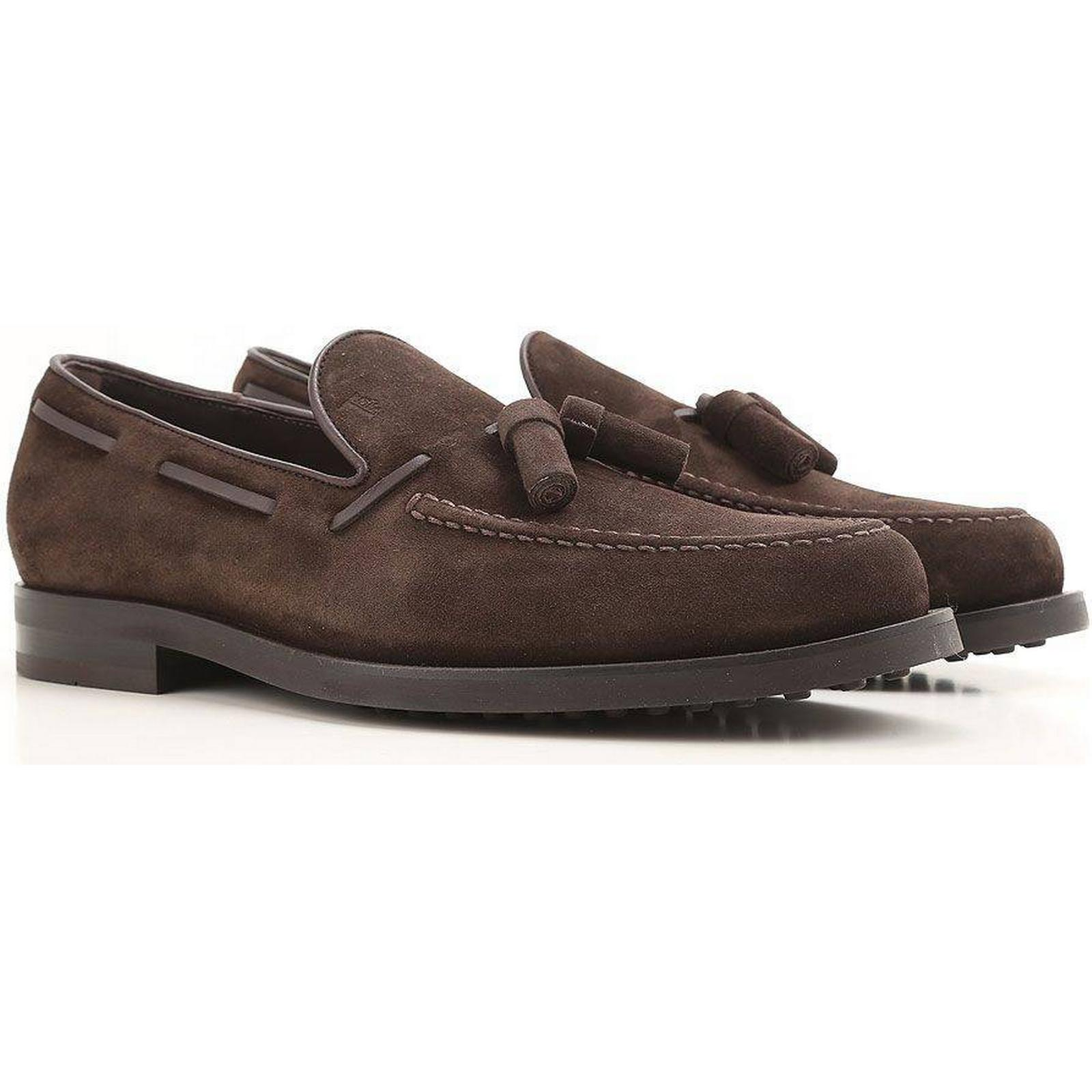 Tod's Tassels Detailed Suede Loafers Loafers Loafers 39c46e