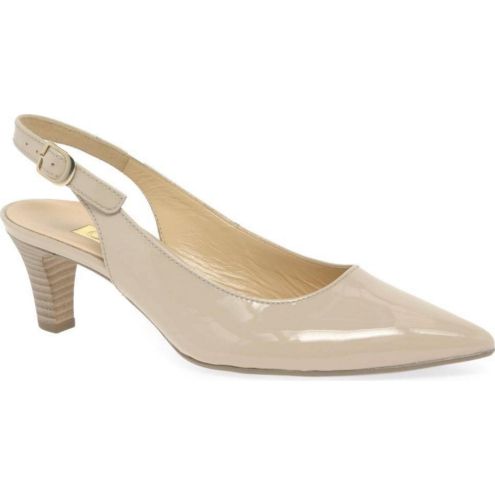 Gabor Hume Shoes 2 Womens Open Court Shoes Hume Colour: Sand Patent Hi Tec, Size: 97fd82