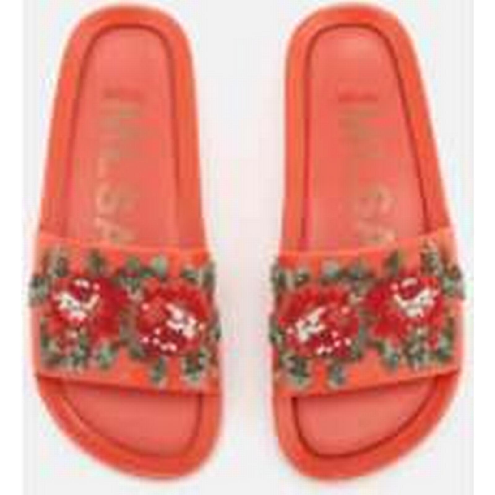 Melissa Women's Slide Flower Pixel Beach Slide Women's Sandals - Coral 2253fd