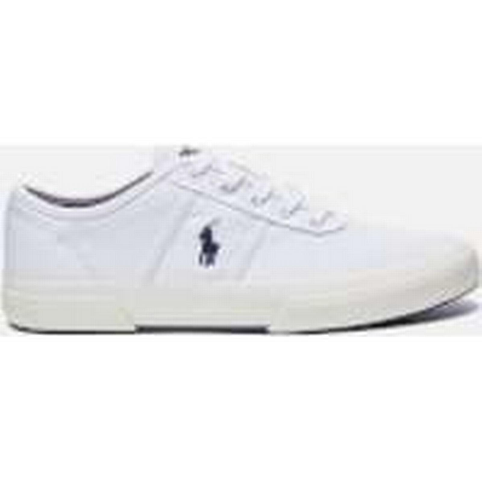 Polo Ralph Lauren Men's Pure Tyrian Canvas Trainers - Pure Men's White - UK 8 - White 9f5d85