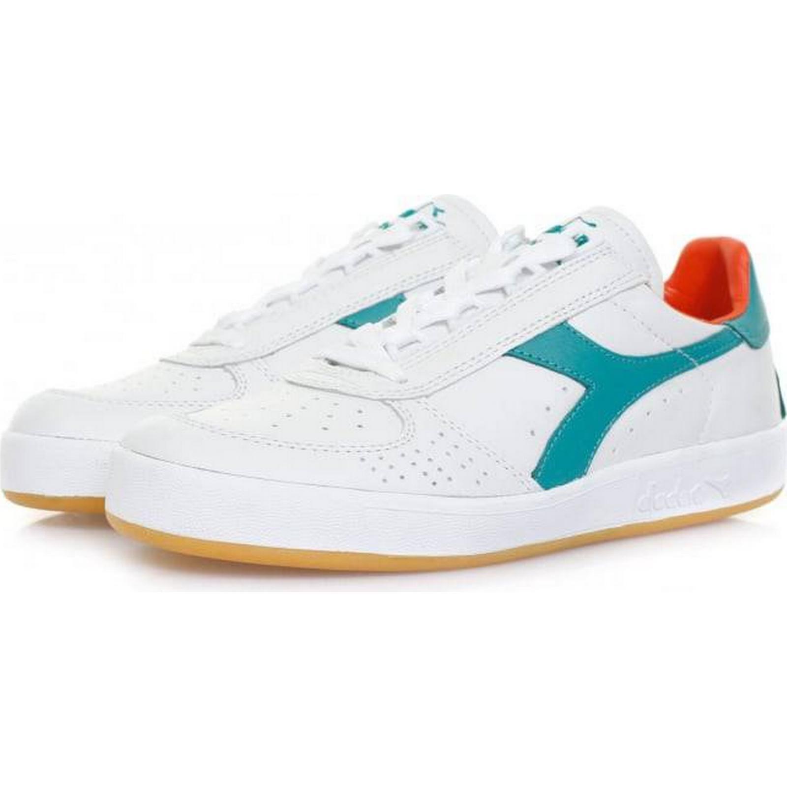 Diadora Borg Elite Italia 501170532 White Porcelaine Green Shoe 501170532 Italia 246746