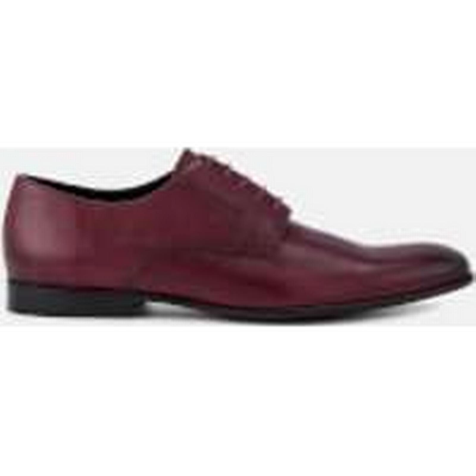 PS by Paul Smith Oxford Men's Gould Burnished Leather Oxford Smith Shoes - Burgundy - UK 7 - Burgundy 52931c