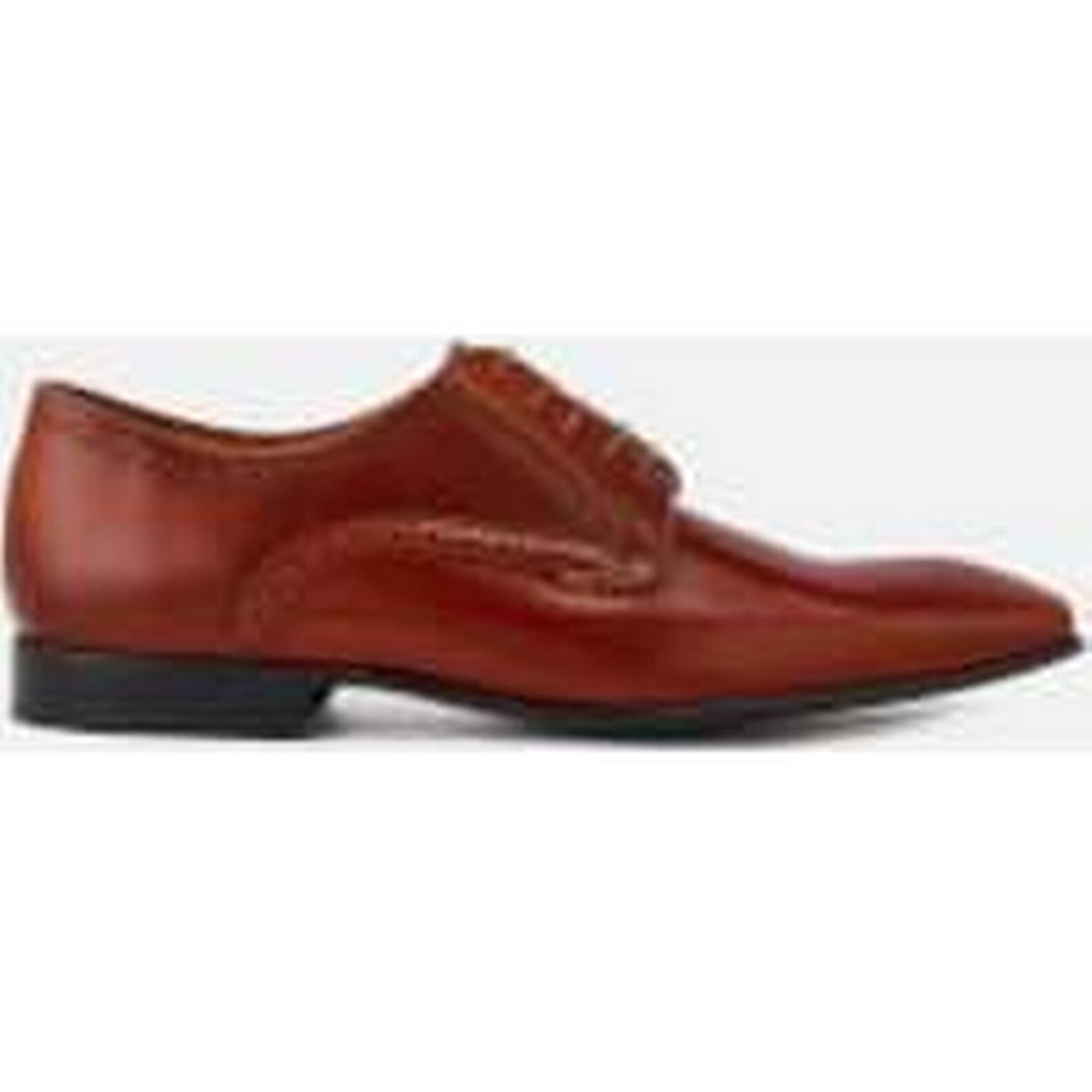 PS by Paul Almond Smith Men's Roth Leather Almond Paul Toe Derby Shoes - Tan 00f006