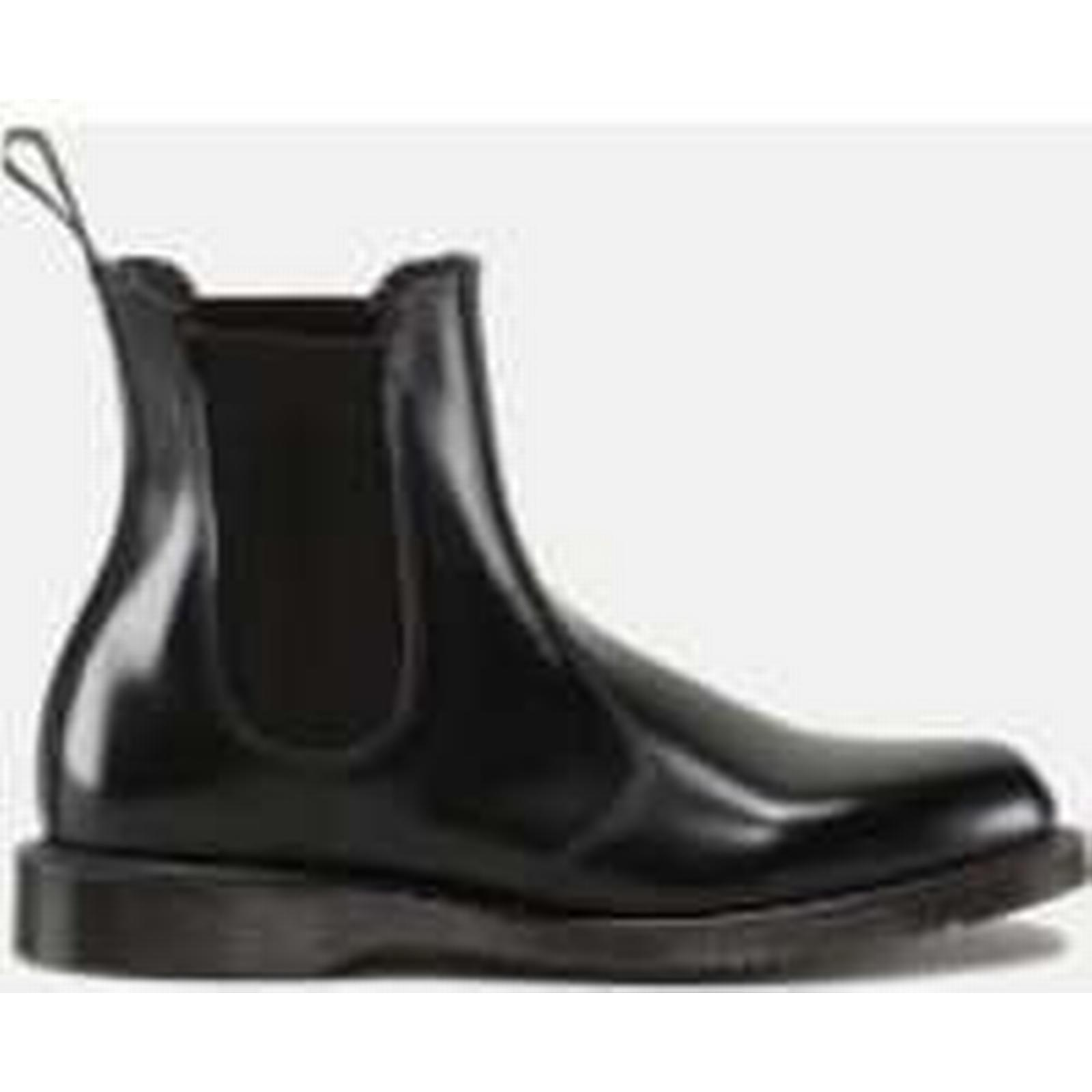 Dr. Martens Leather Women's Flora Polished Smooth Leather Martens Chelsea Boots - Black - UK 8 - Black 409fed