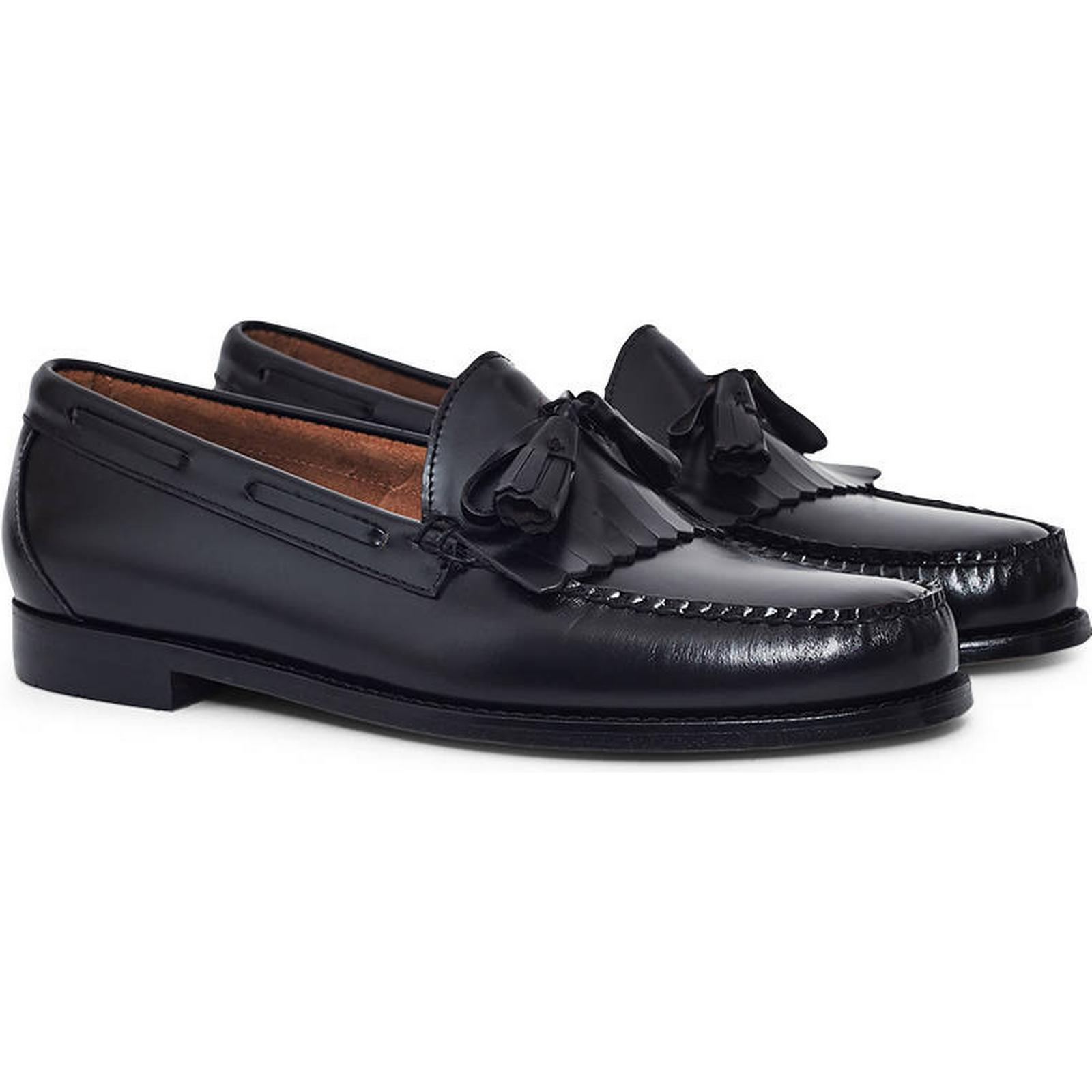 G.H. Co. Bass & Co. G.H. Weejuns Tassle Loafers Black bb0aef