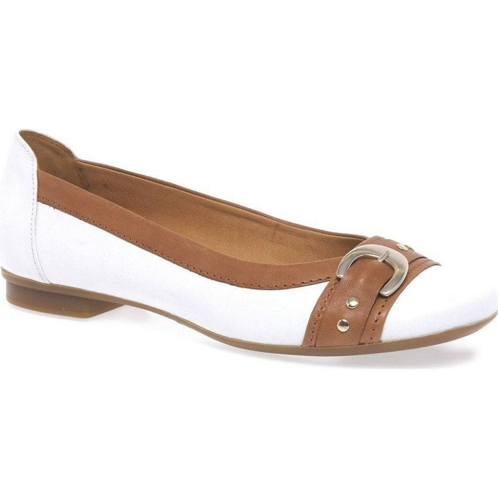 Gabor Pumps Indiana Womens Casual Pumps Gabor Colour: White/Caramel, Size: 9 1f72d0