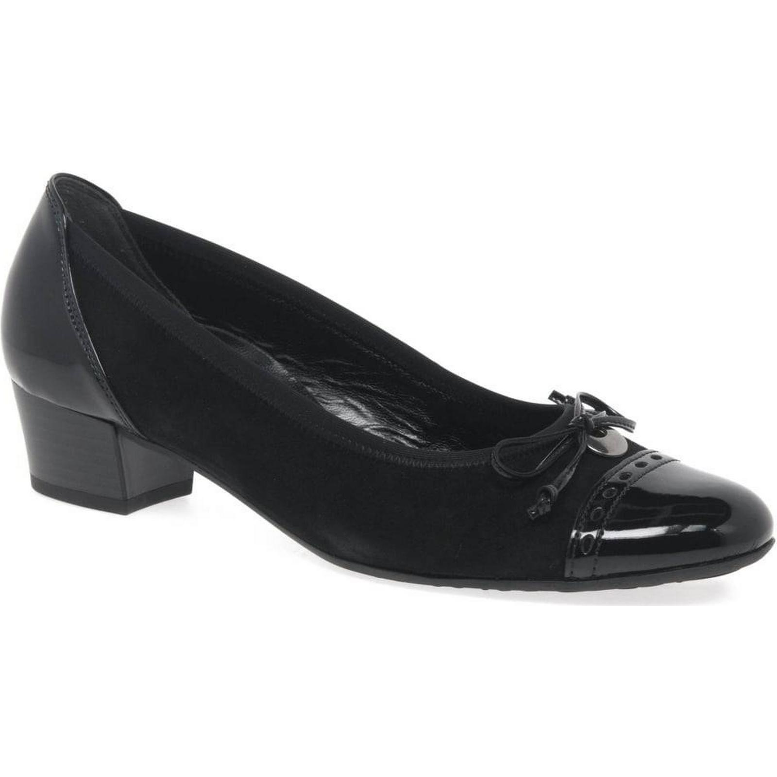 Gabor Islay Black Womens Casual Shoes Colour: Black Islay Suede/Patent, Size: 3.5 becc20