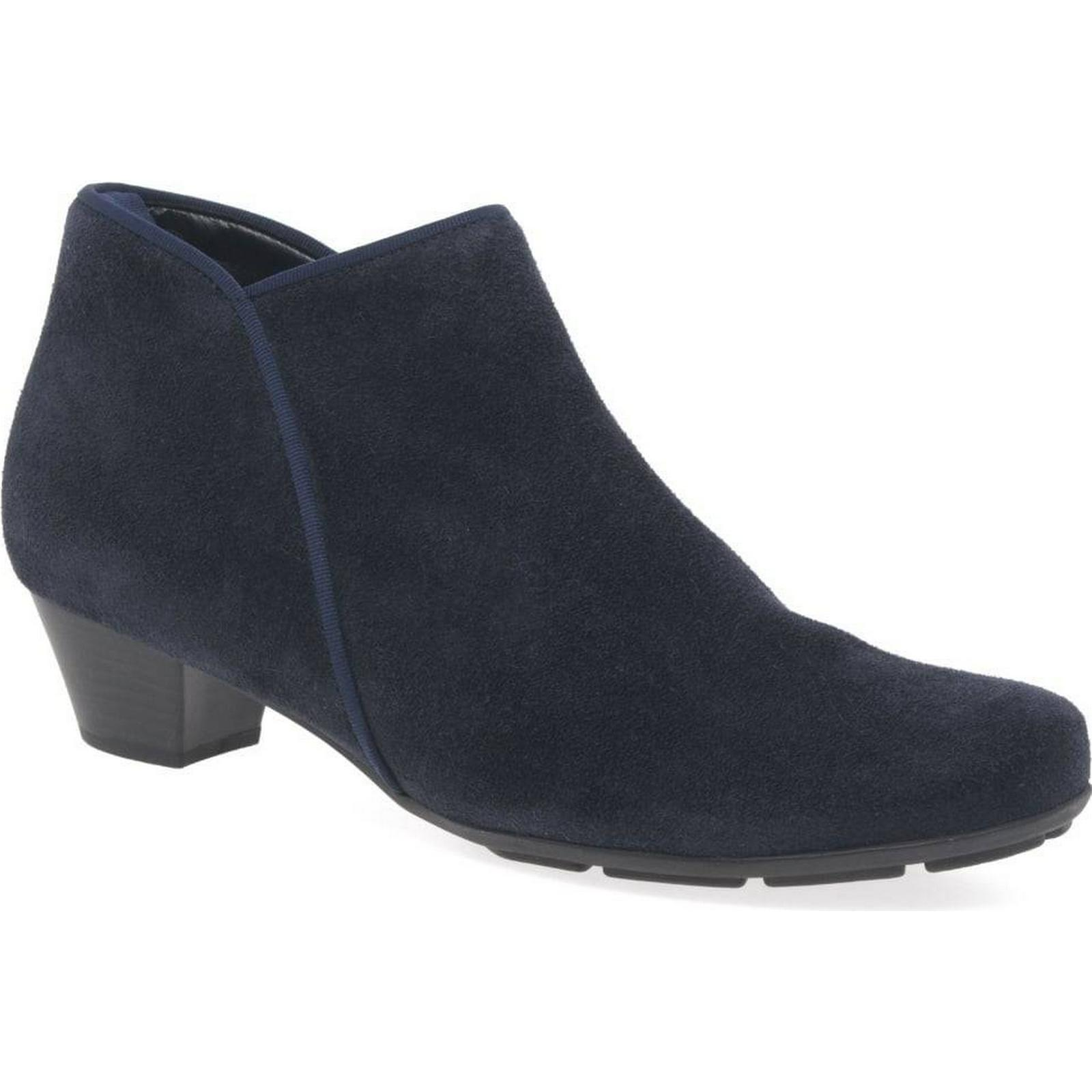 Gabor Trudy Navy Womens Ankle Boots Colour: Navy Trudy Suede, Size: 4 1bfb43