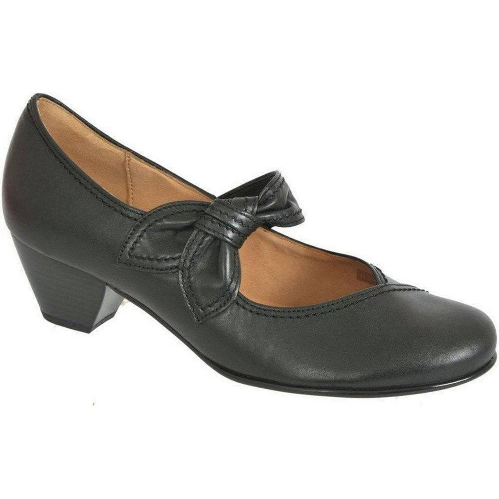 Gabor Henrietta Black Colour: Leather Dress Courts 35.457 Colour: Black Black, Size: 01acfe