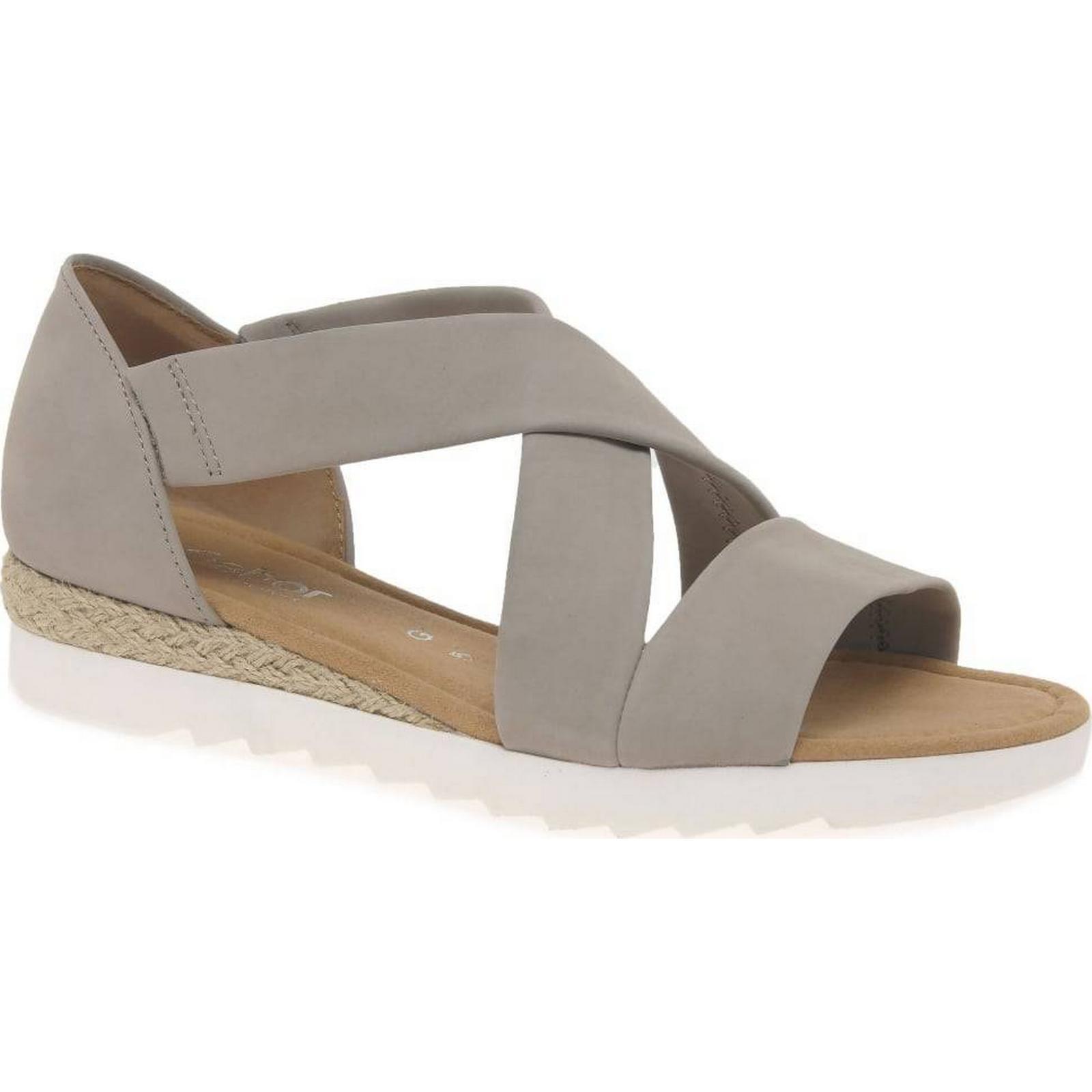 Gabor Linen Promise Womens Sandals Colour: Linen Gabor Nubuck, Size: 4 10c629