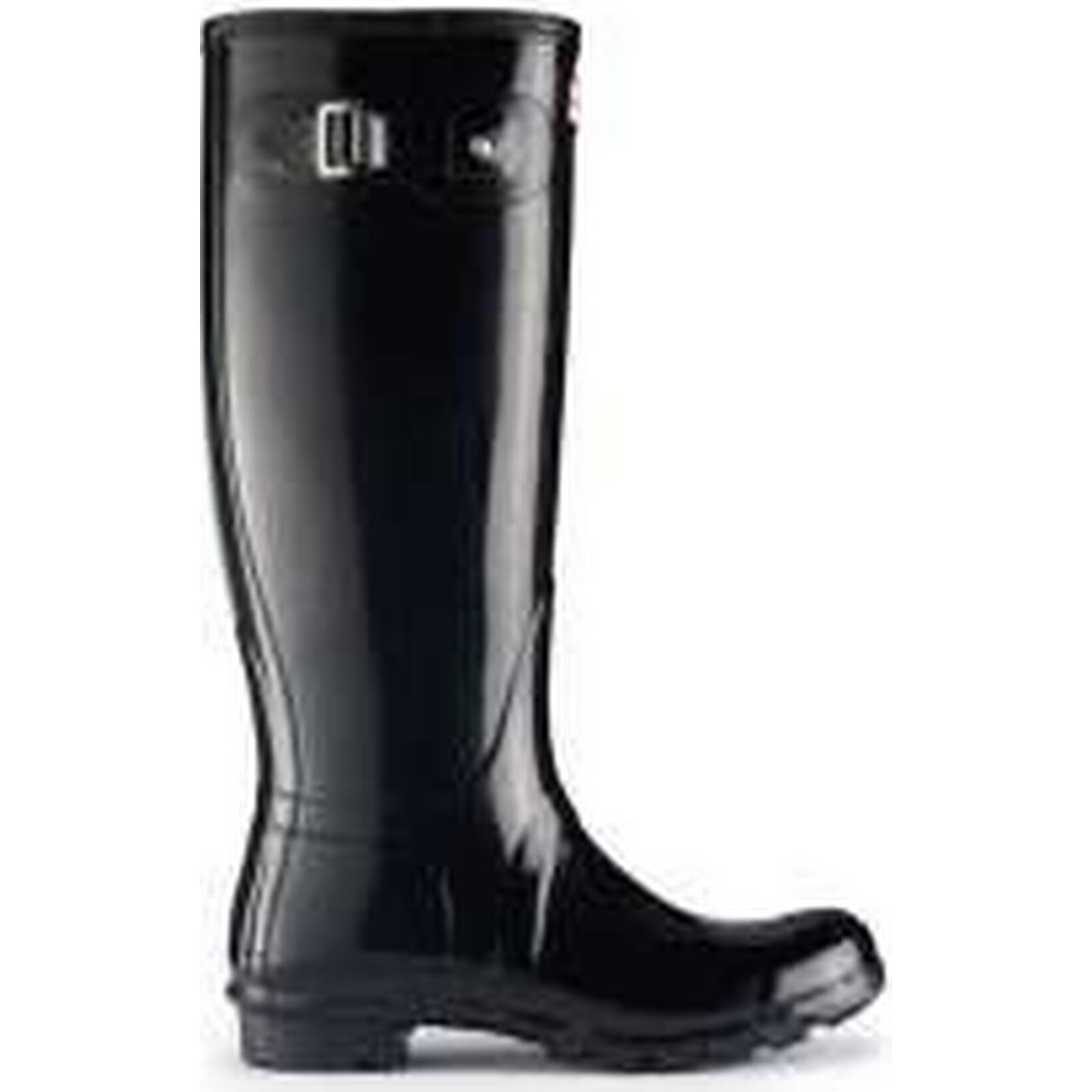 Hunter Black, Original Gloss Wellington Boots, Black, Hunter UK4 3ba72e