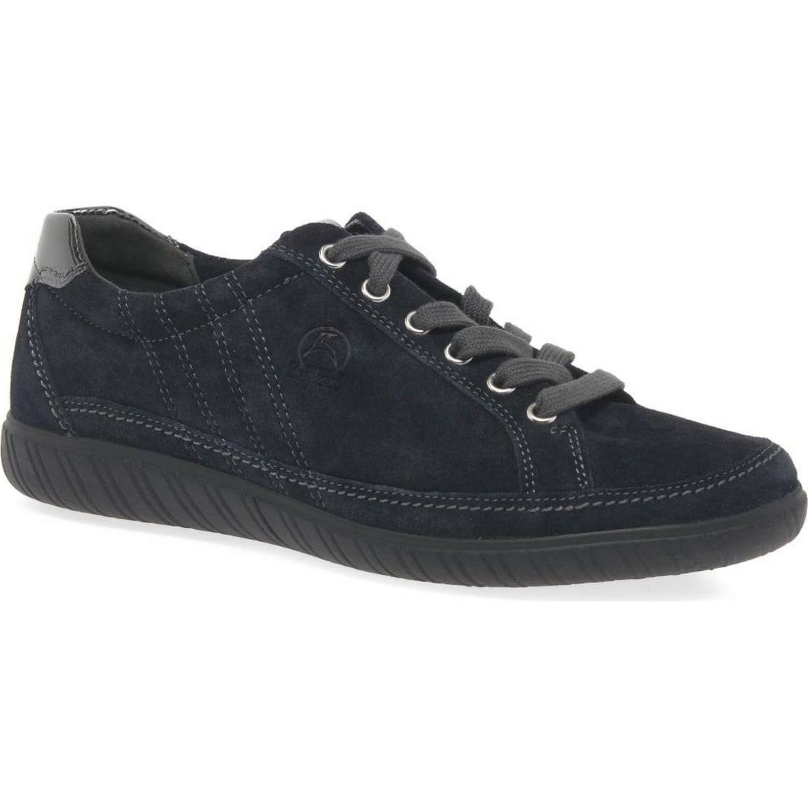Gabor Amulet Colour: Wide Fit Nubuck Sneakers Colour: Amulet Nightblue Suede, Size: 3 11ee0e