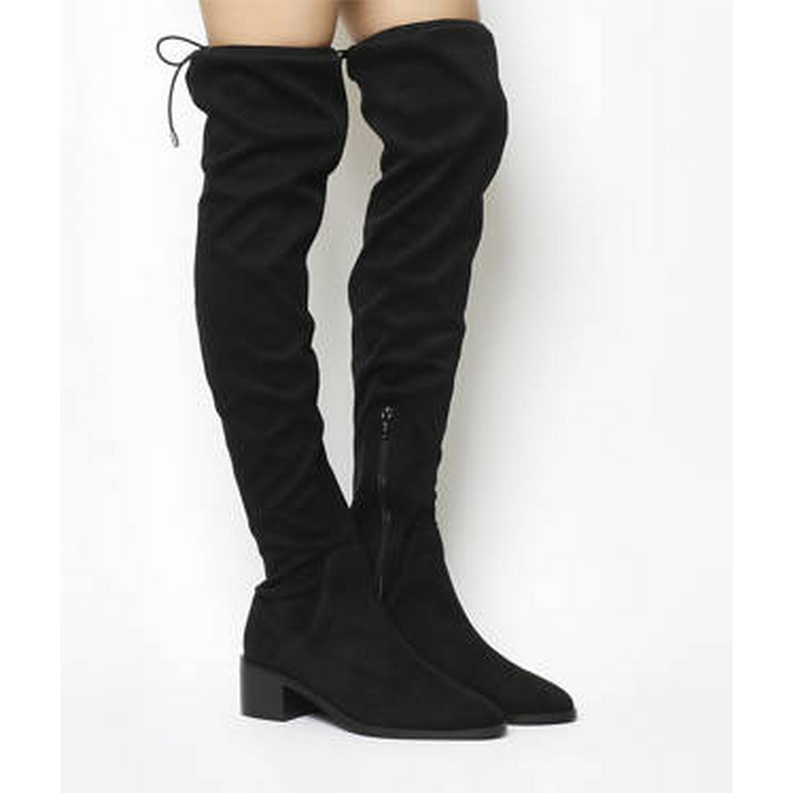 Office Karma Block Heel BLACK Over The Knee Boot BLACK Heel c0f40c