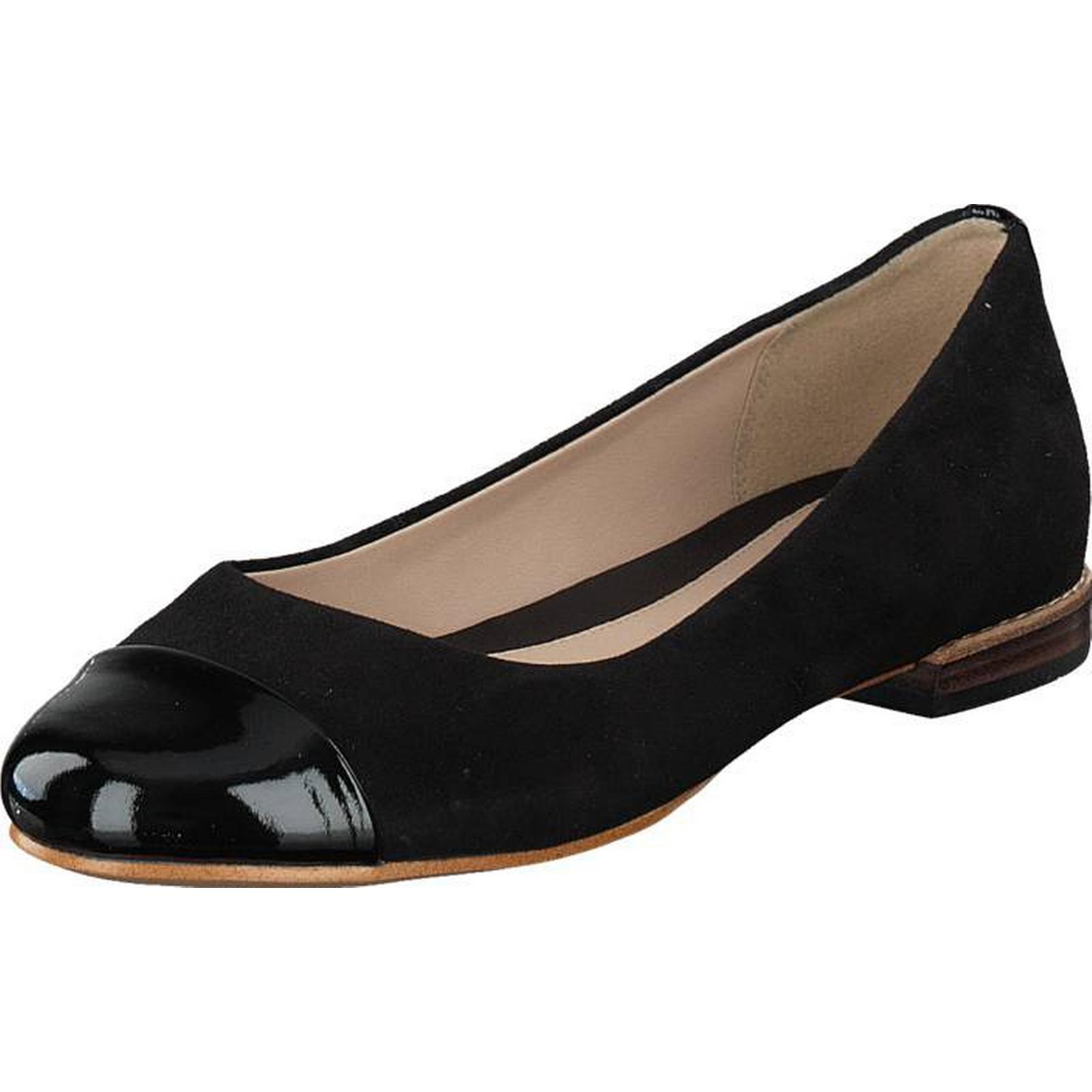 Clarks Festival Gold Black Black Gold Combi, Shoes, Flats, Ballerina Shoes, Black, Female, 36 d842e3