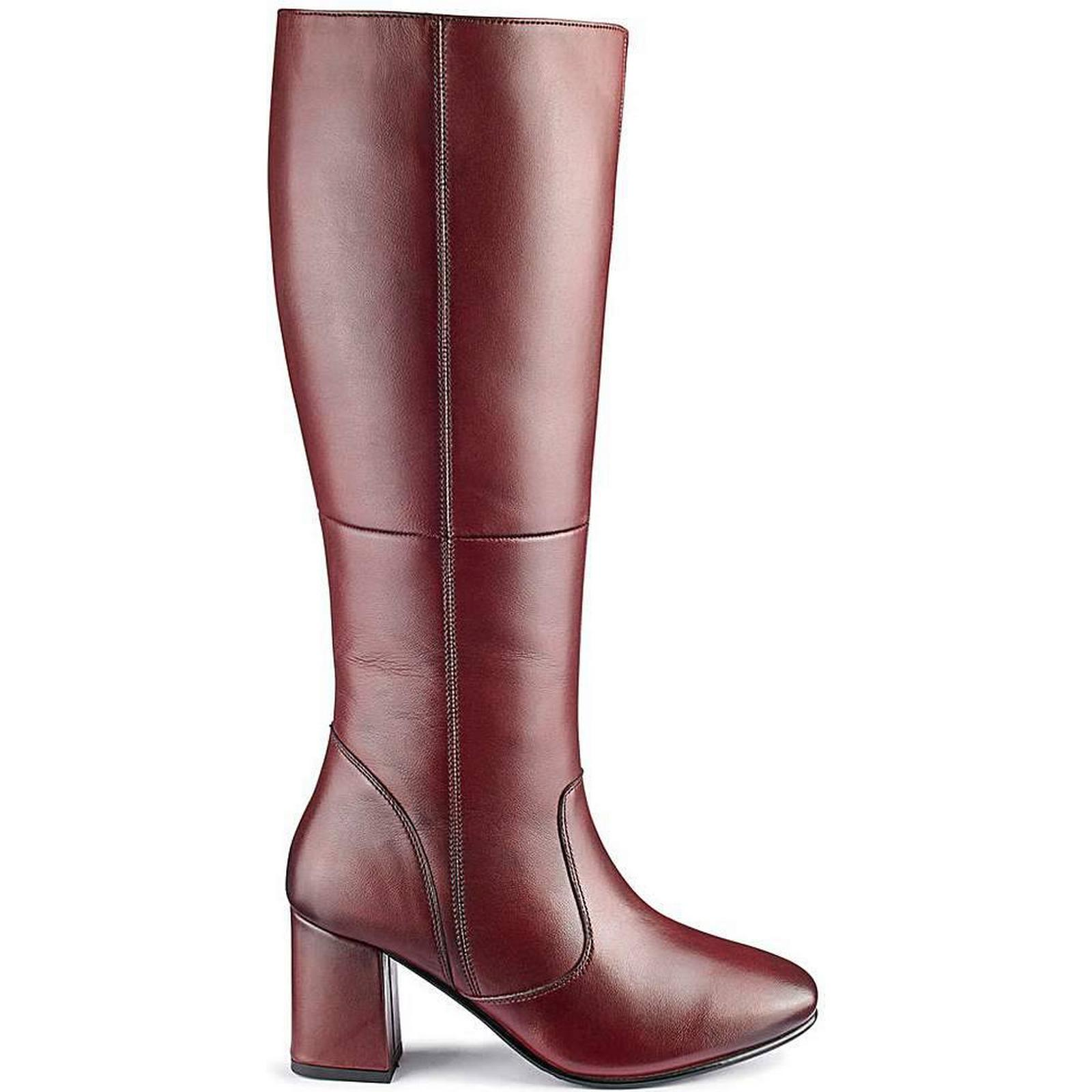 Heavenly Soles Leather Curvy Boots EEE Fit Curvy Leather Plus Calf beb930