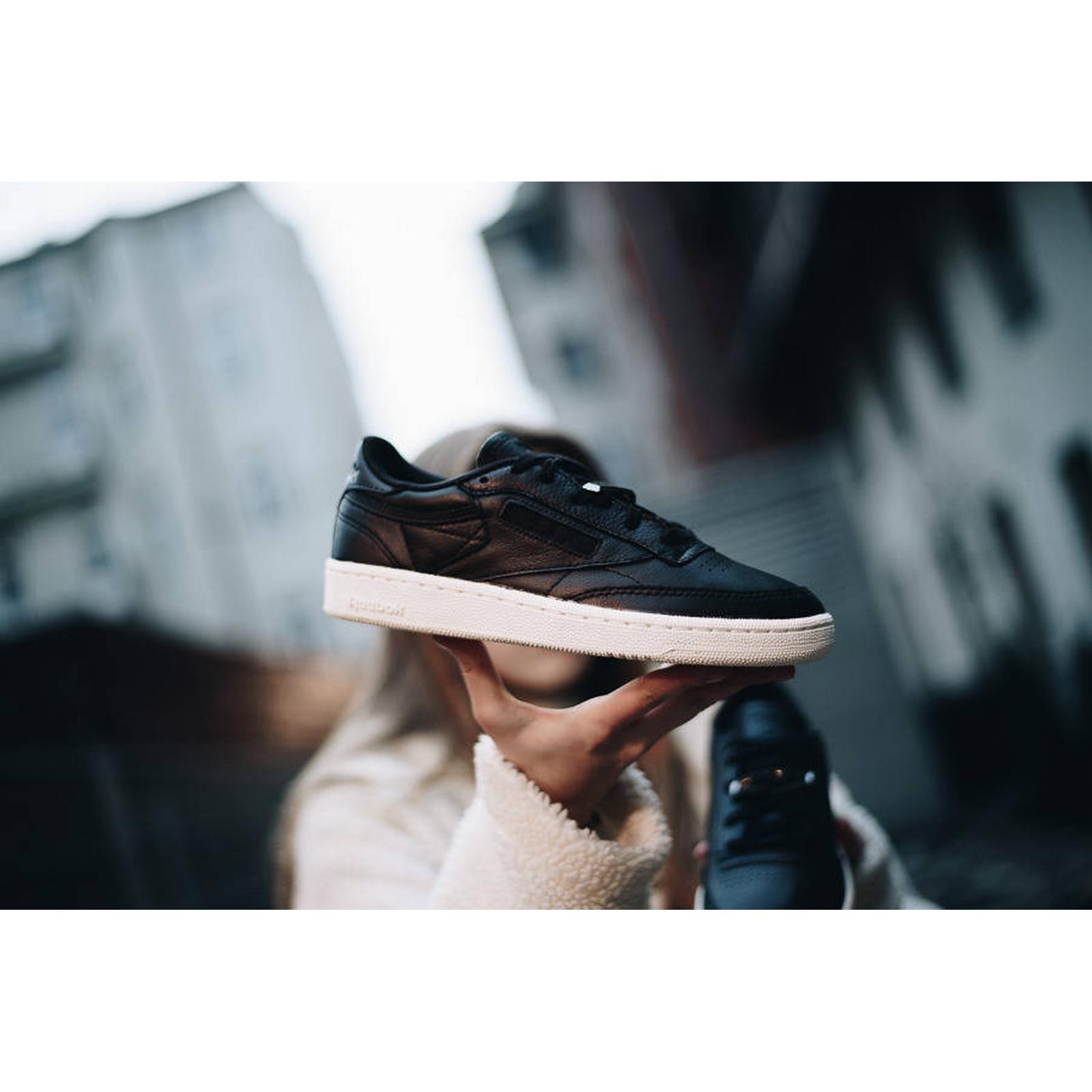 Reebok Classic Women's Shoes sneakers Reebok Club C BLACK 85 Hardware Black BS9596 BLACK C Size 40 236eed