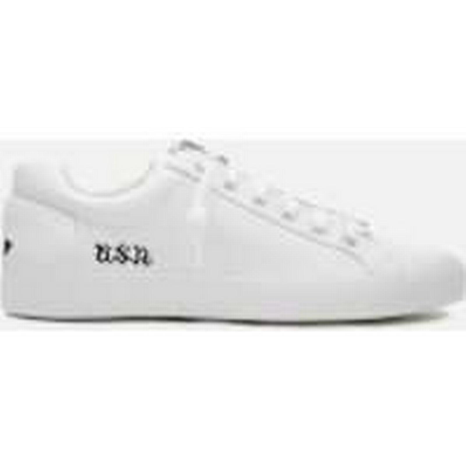 Ash Women's Nirvana Tumbled Leather Zip - Front Low Top Trainers - Zip White/Black - UK 6 - White cb9d09