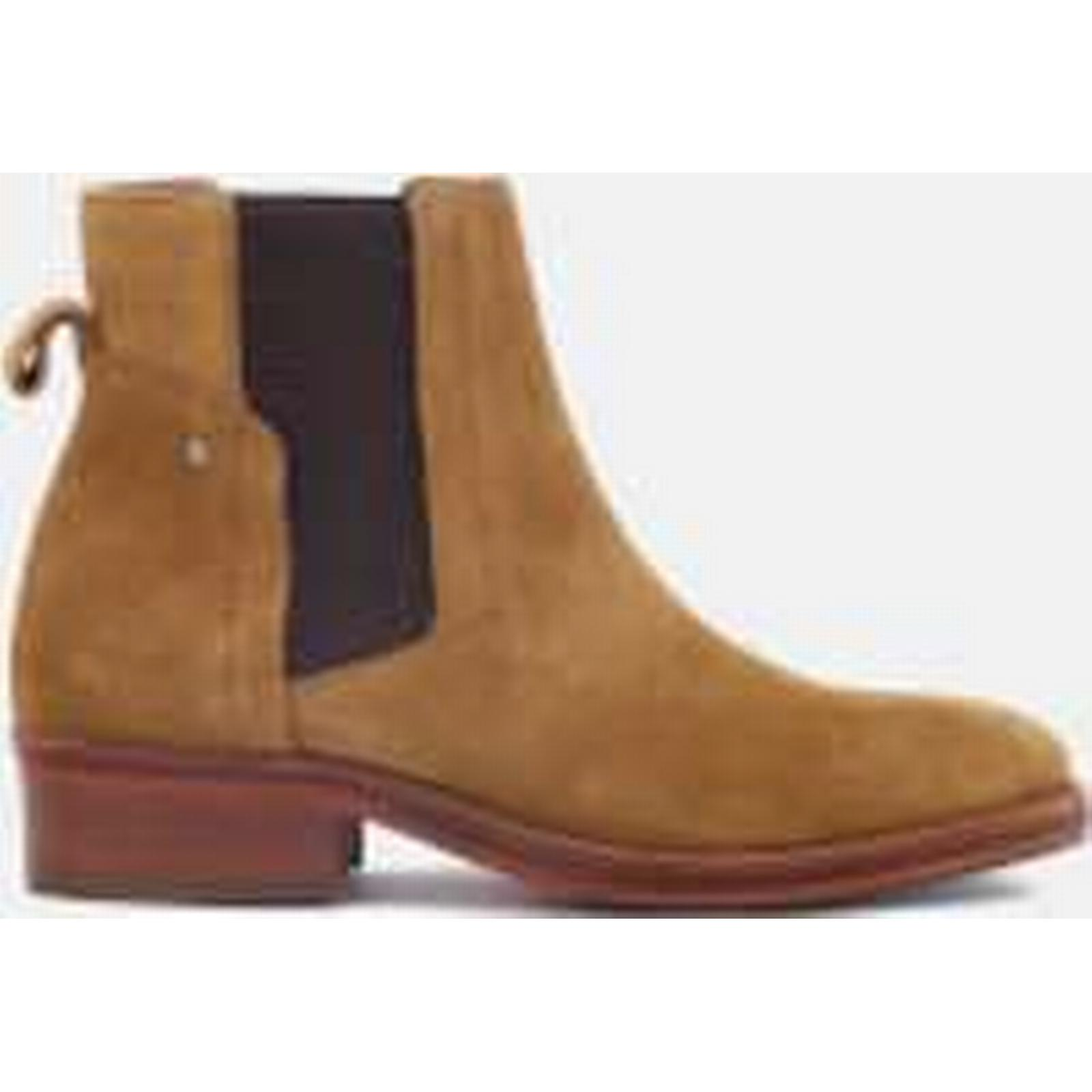 Hudson London Boots Women's Rodney Suede Chelsea Boots London - Tan - UK 4 - Tan 004ab5