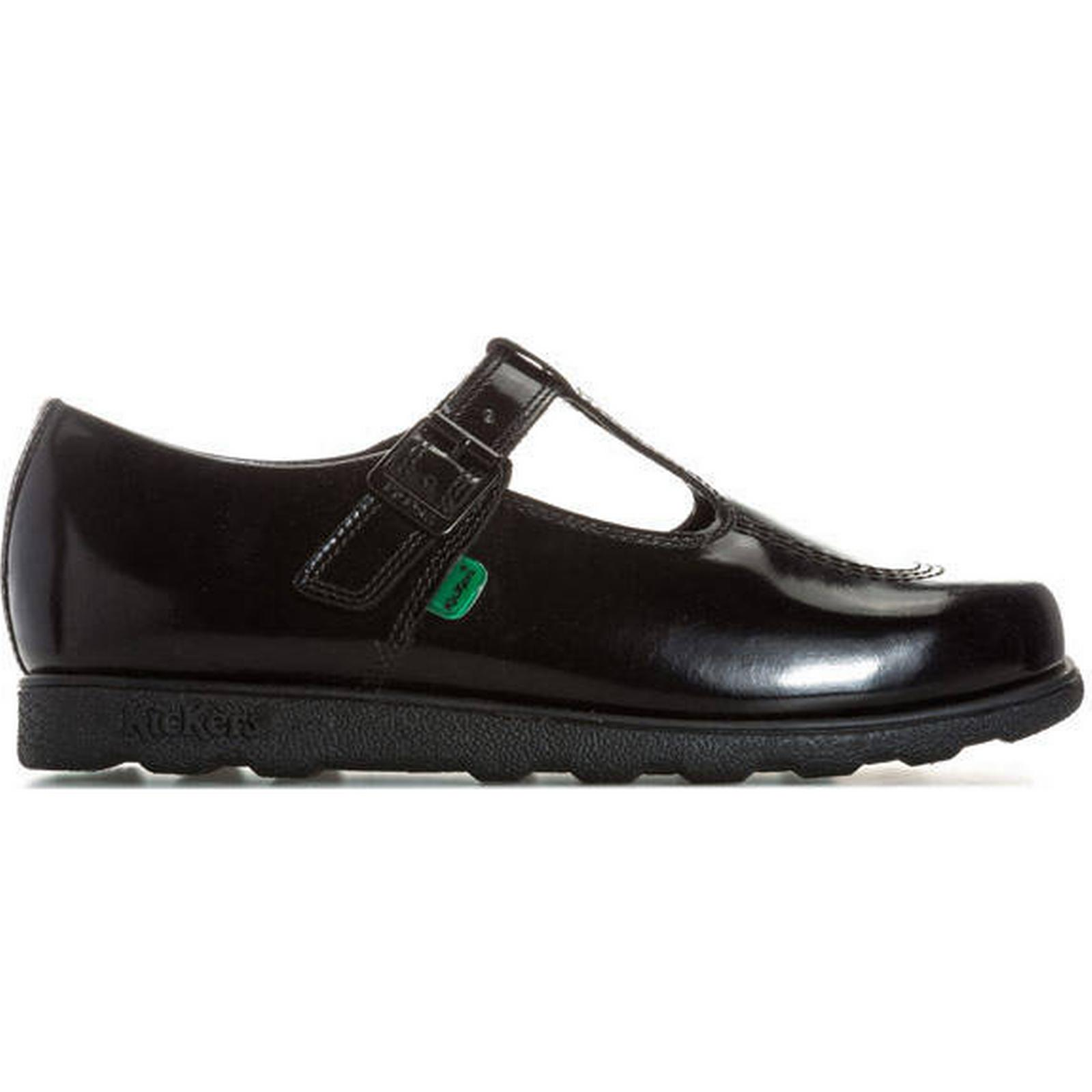 64.99 GBP Kickers Womens Fragma T in Patent Shoes Size 6 in T Black 50ba80