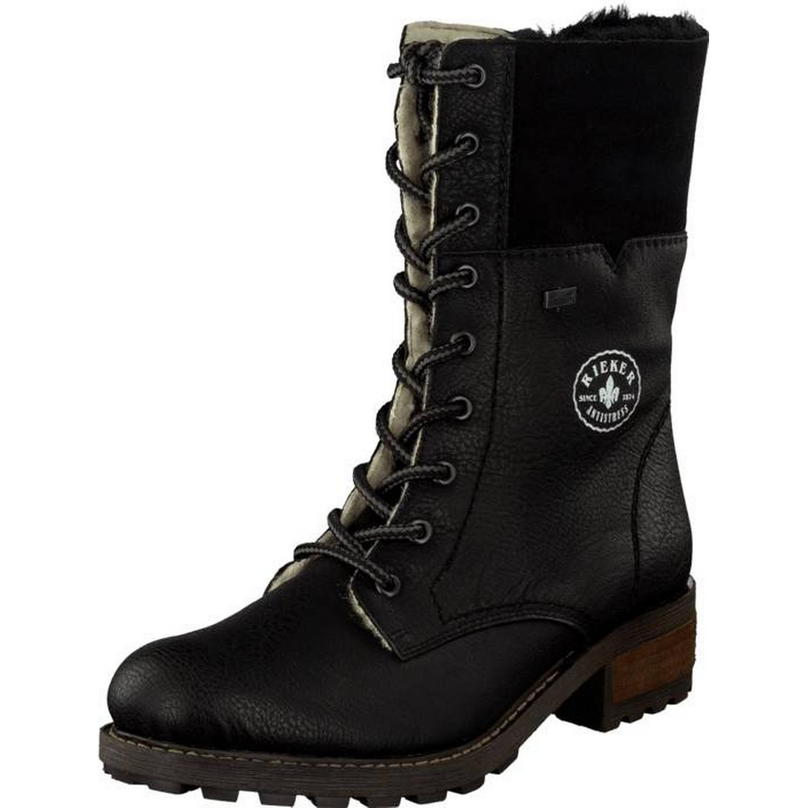 Rieker Y0422-00 Black, Shoes, Boots & Chelseas, Boots, Tall Boots, Chelseas, Black, Female, 39 e2e372