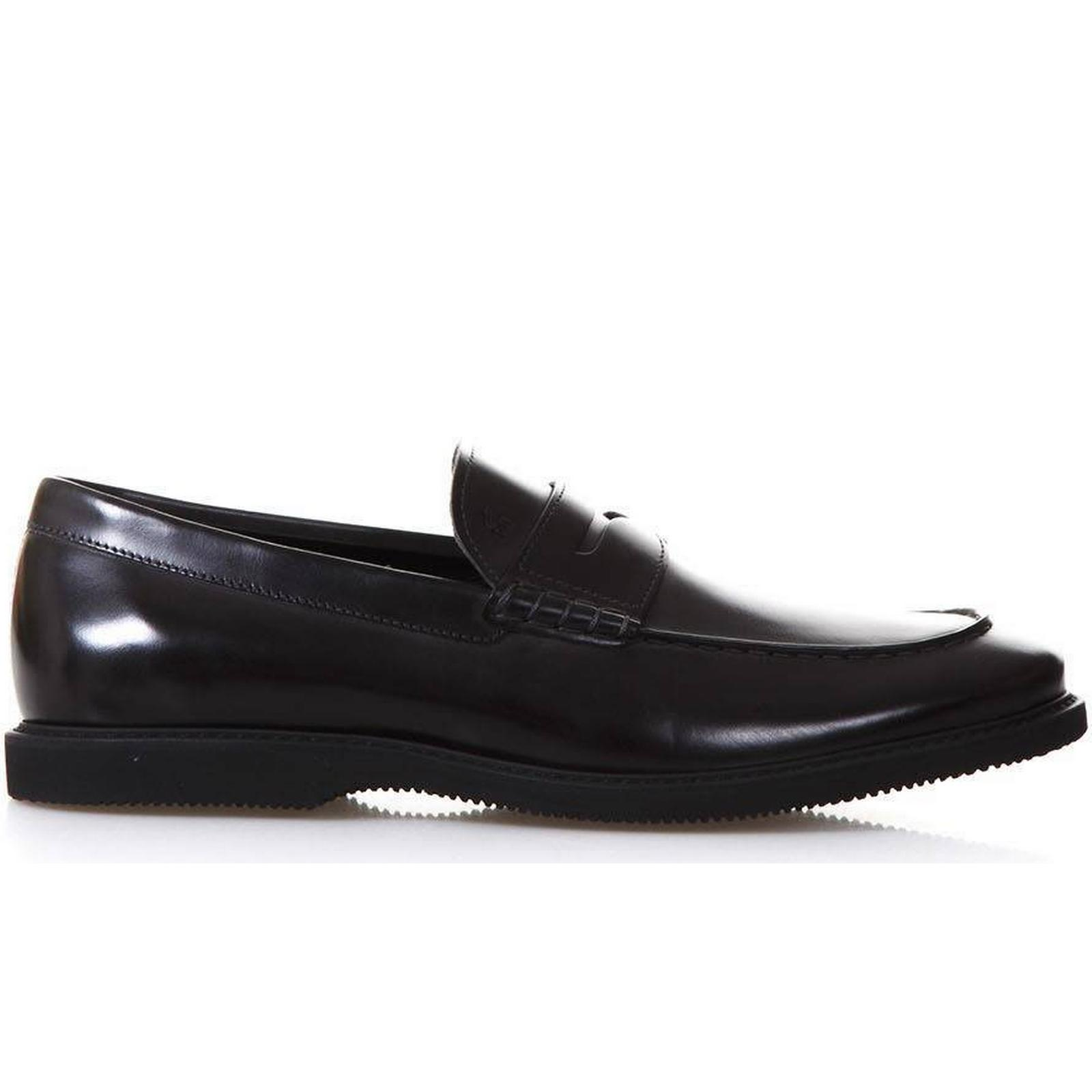 Hogan Black Leather Route Route Route Loafers 13976e